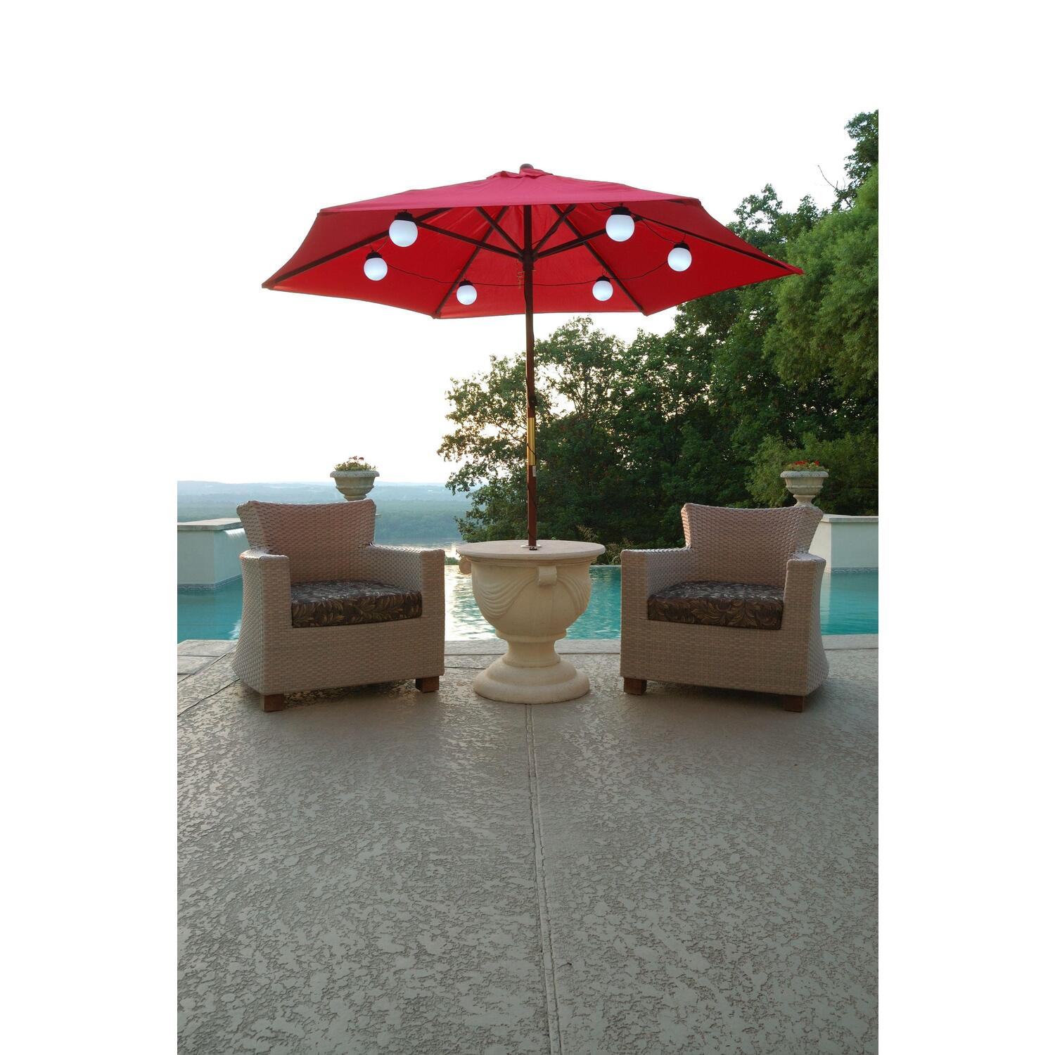 Patio Living Concepts : Globe Umbrella Lights  OJCommerce