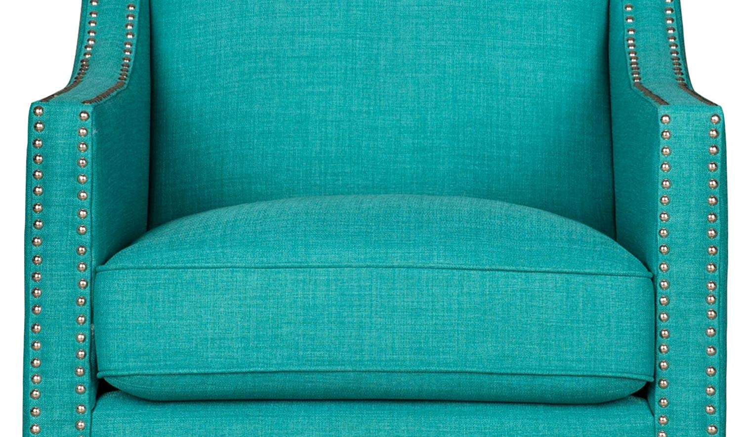 Phenomenal Cambridge Bridgehampton Accent Chair With Nailhead Trim In Teal Teal Onthecornerstone Fun Painted Chair Ideas Images Onthecornerstoneorg