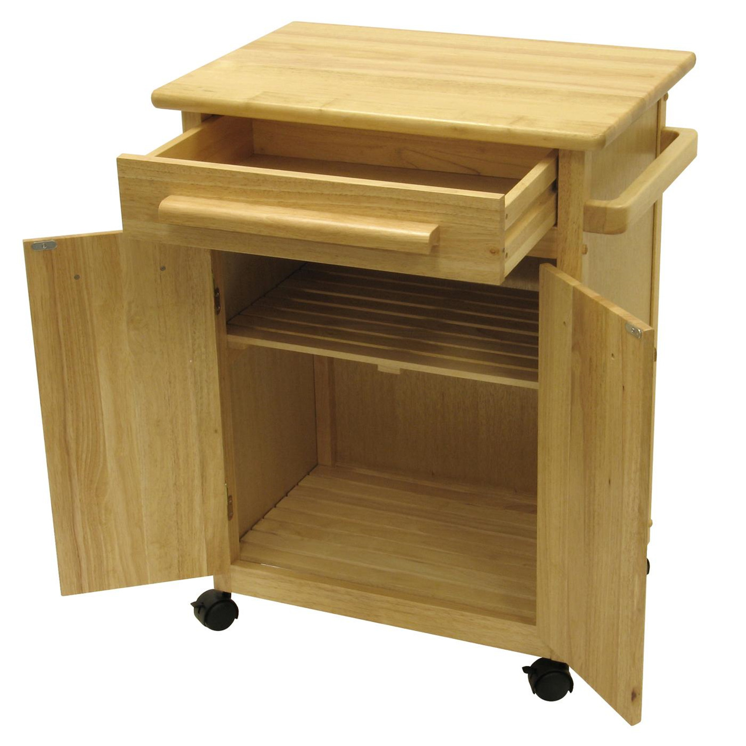 Kitchen Cart With Drawers: Kitchen Cart With One Drawer, Cabinet - $149.79