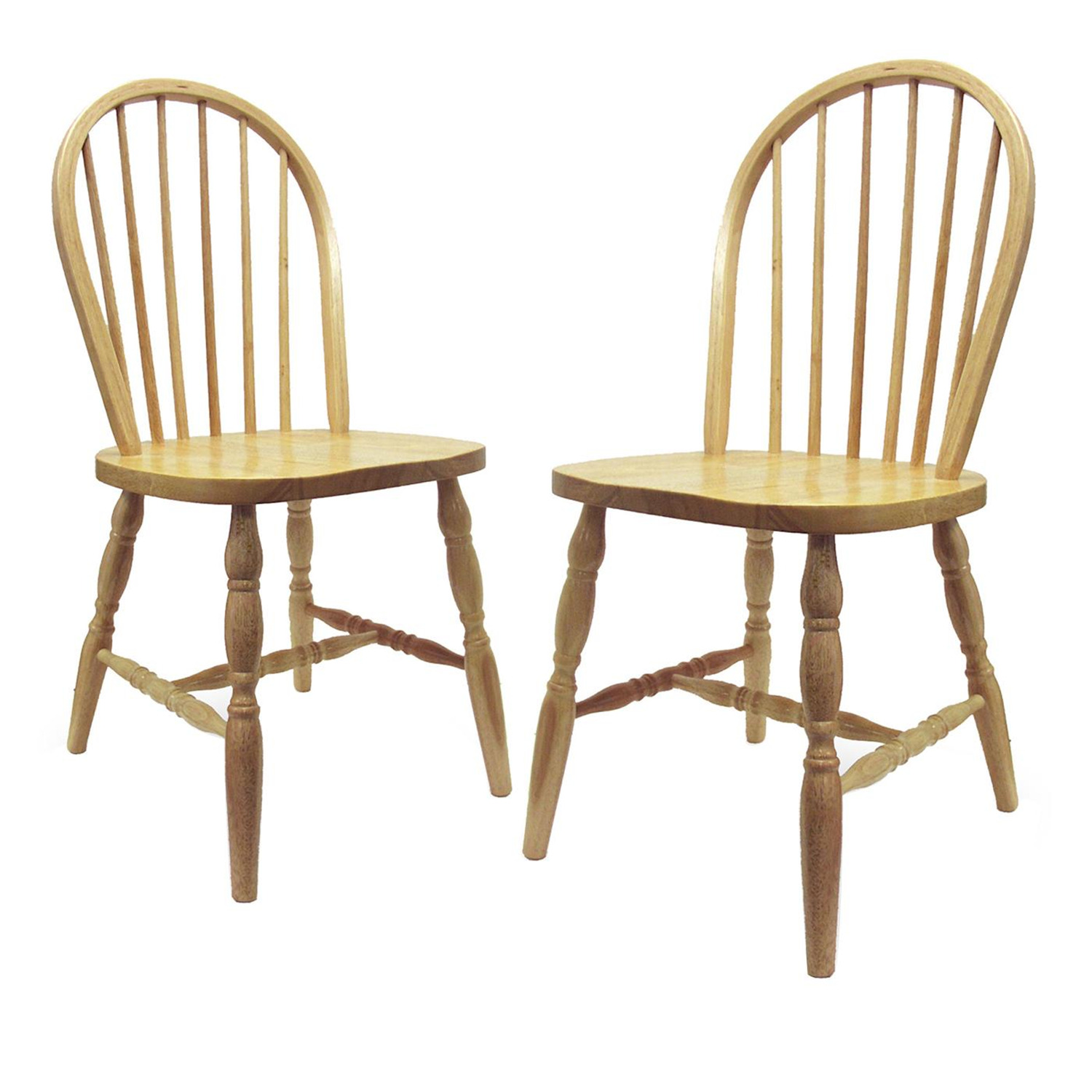 Windsor Kitchen Chairs: Set Of 2, Windsor Chair Turn Legs, Assembled