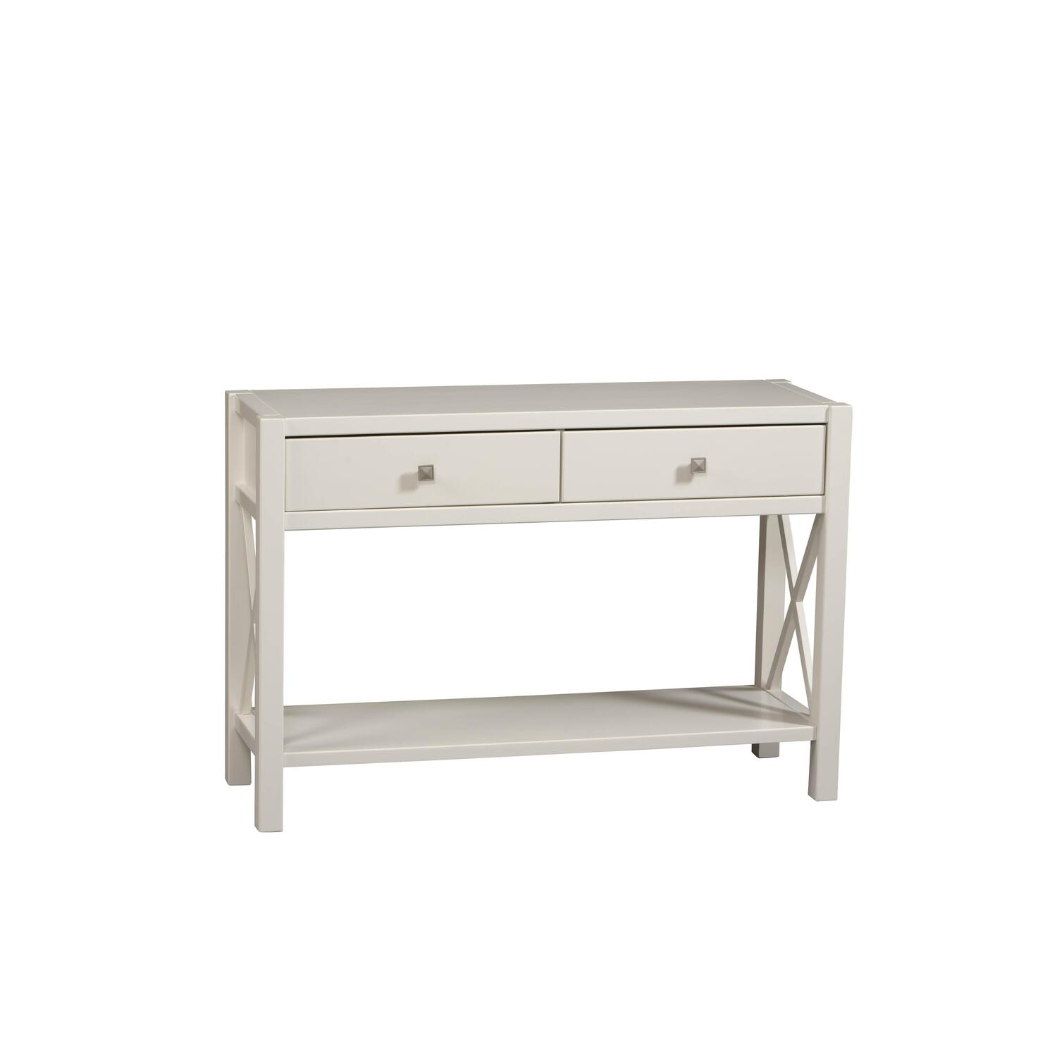 Anna Console Table With Antique White Finish   [86107C147 01 KD U