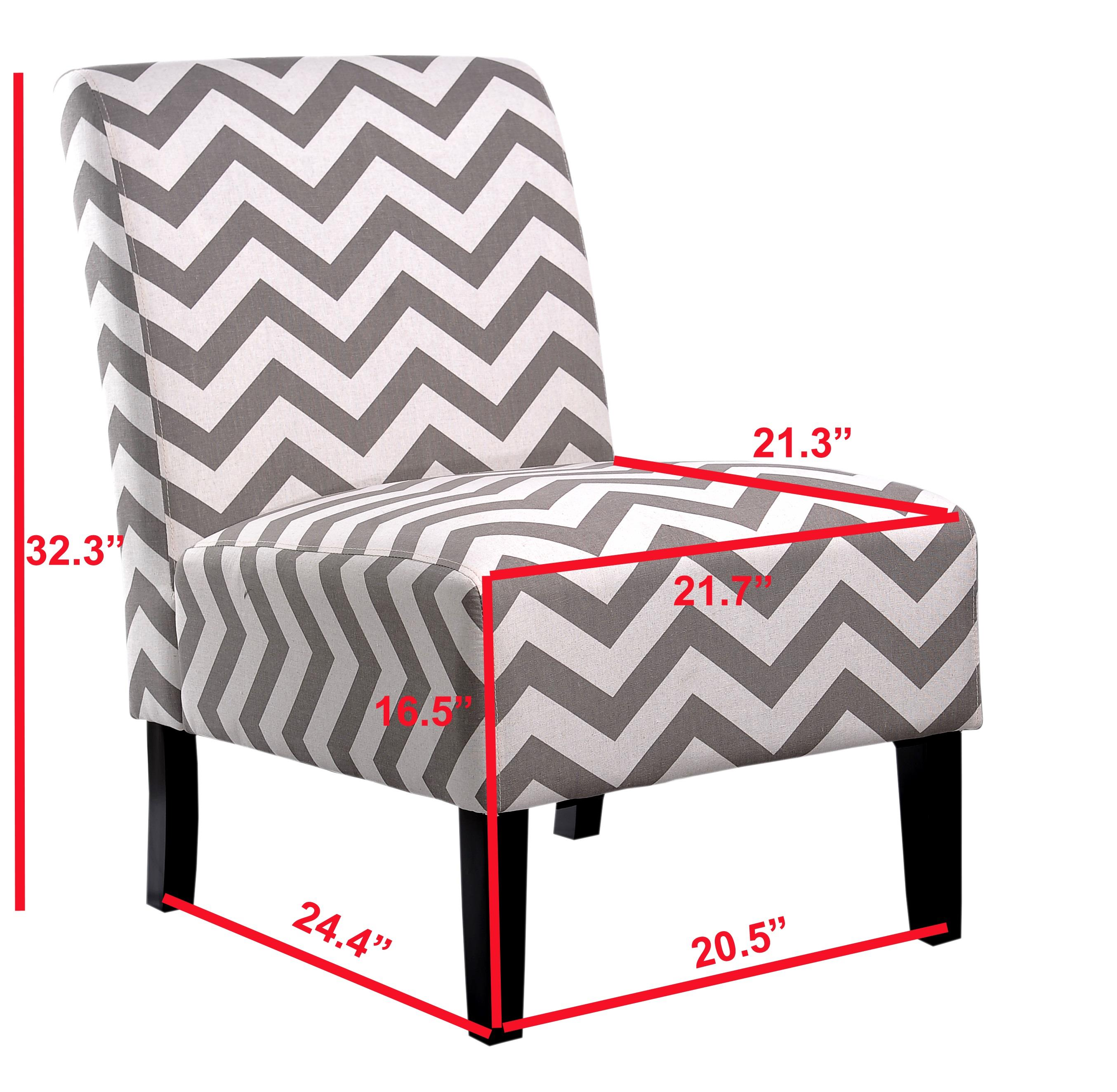 Remarkable Nathaniel Home Grey Chevron Accent Chair Ocoug Best Dining Table And Chair Ideas Images Ocougorg