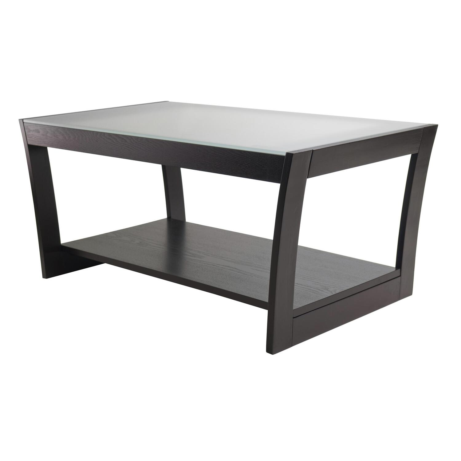 Radius Coffee Table With Frosted Glass And Curved Legs Ojcommerce