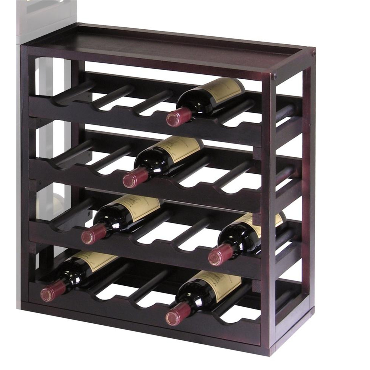 Winsome Wood Kingston Stackable Removable Tray 20 Bottle Wine Cube