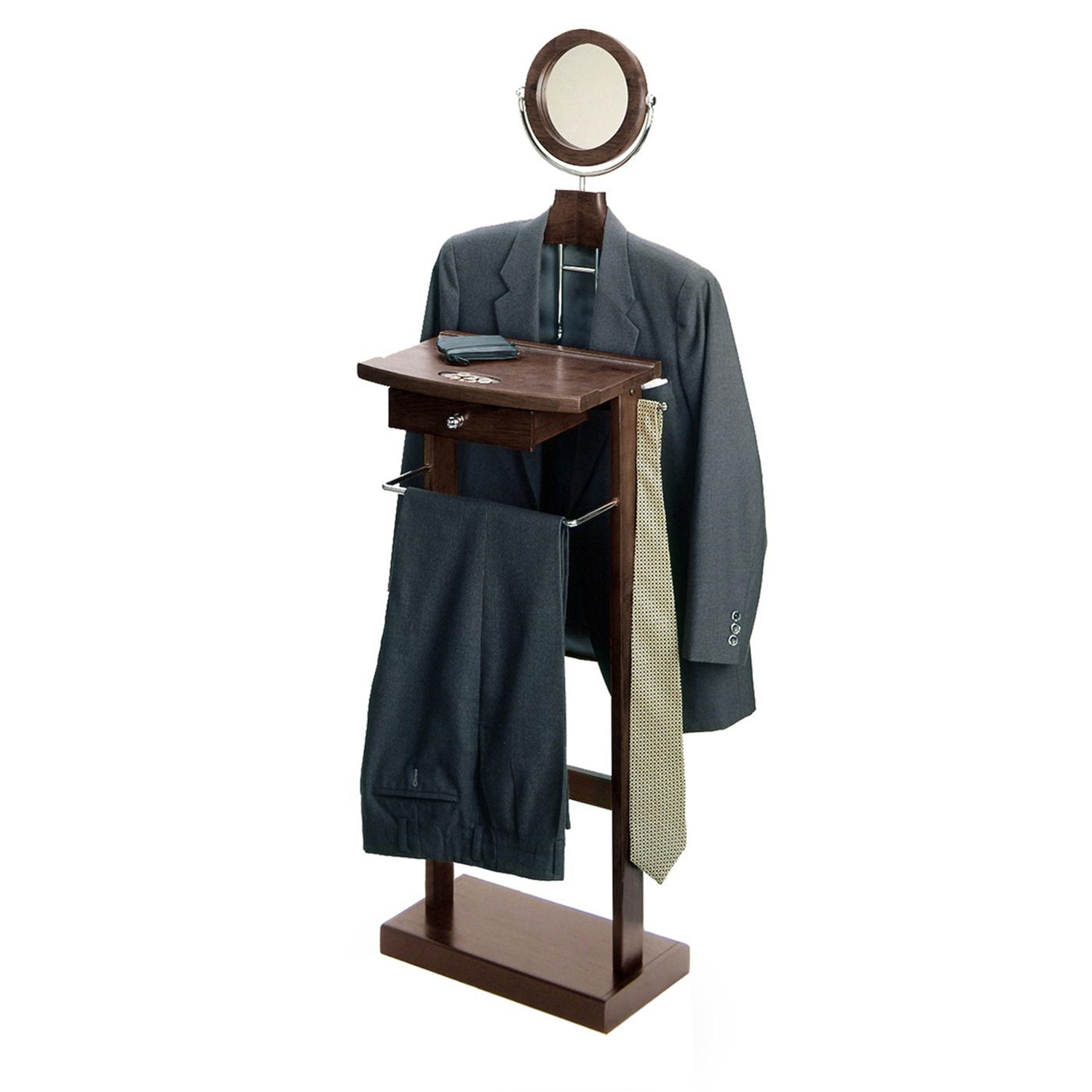 Valet Stand With Wood Base 92 17 Ojcommerce