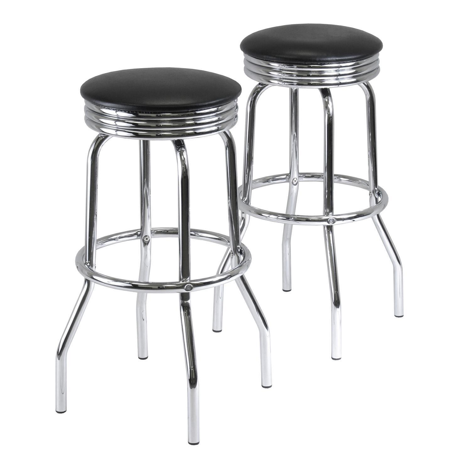 Summit Set Of 2 Swivel Bar Stools Ojcommerce