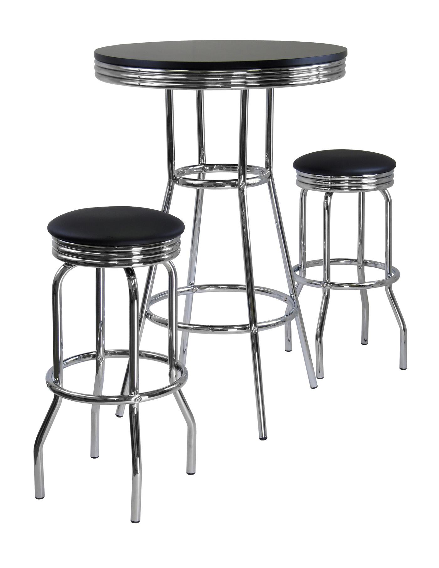 Summit 3pc Pub Table Set Includes 2 Swivel Stool 206