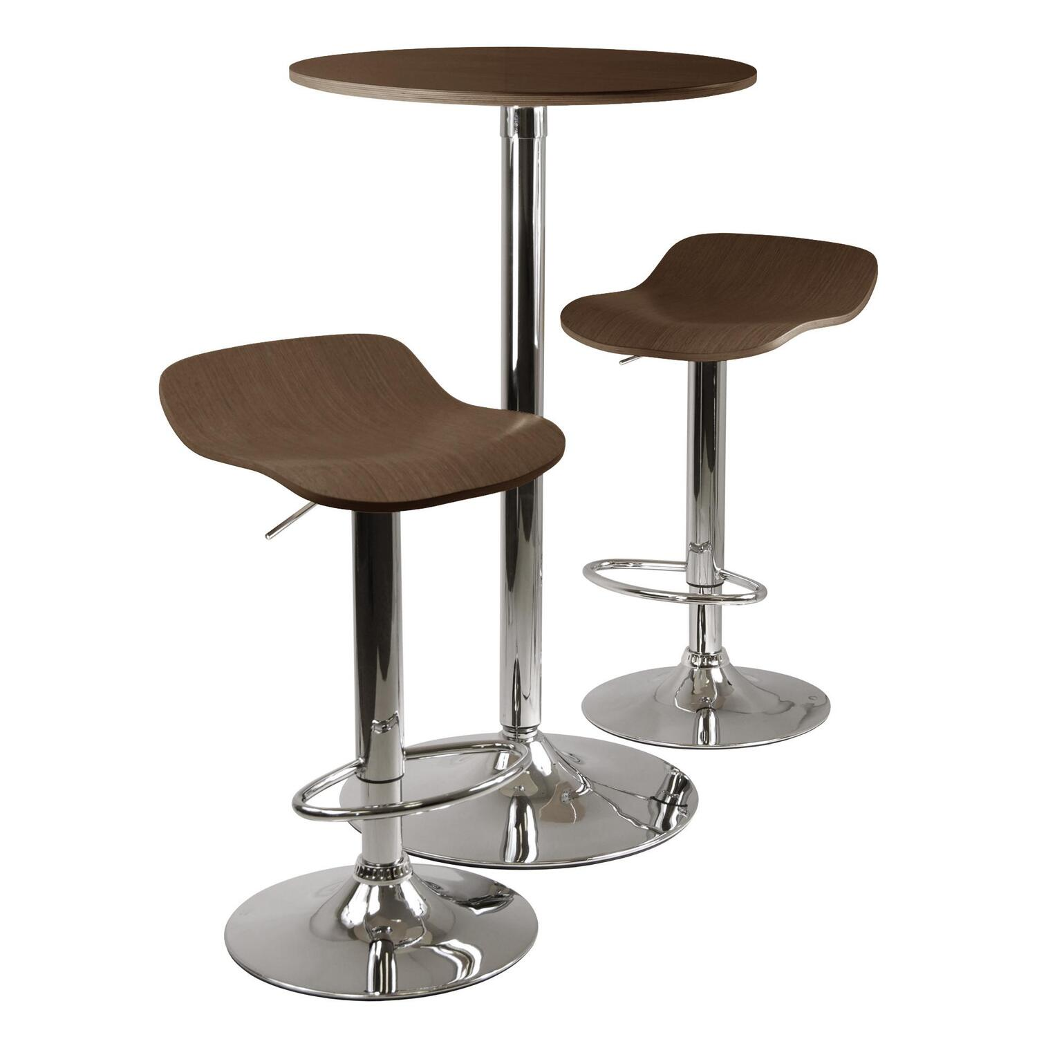Kallie 3 Pc Pub Table And Stools Set In Cappuccino 308