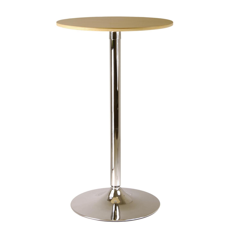 Kallie 23 5 Quot Round Pub Table Veneer Wood Top With Metal