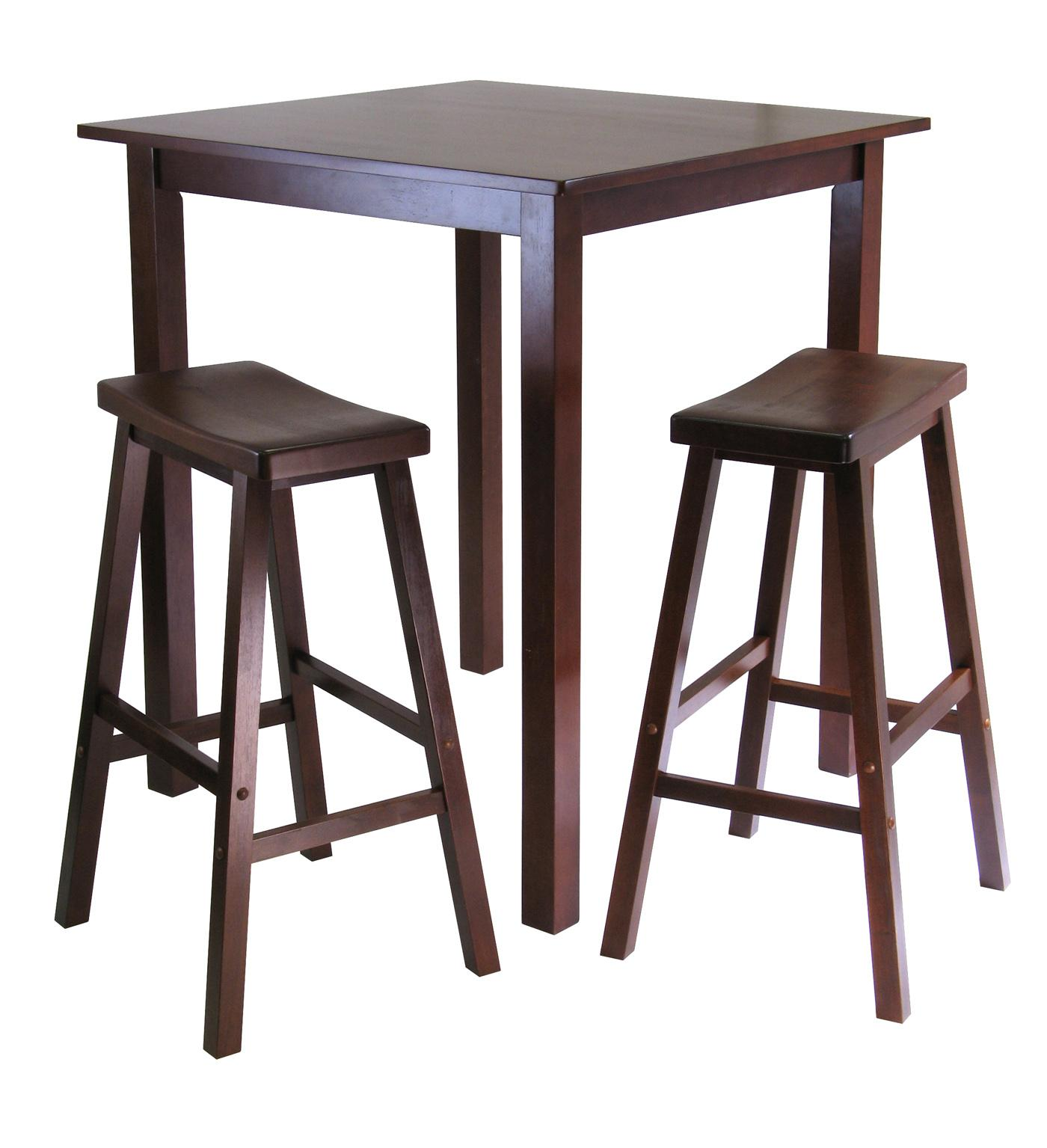 Winsome Parkland 3pc Square HighPub Table Set With 2
