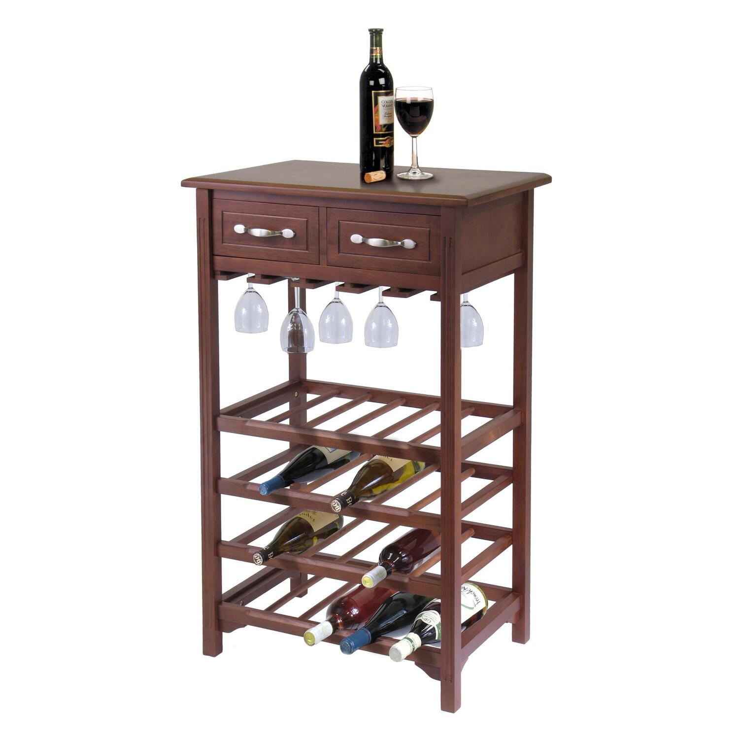 wine rack with 2 drawers