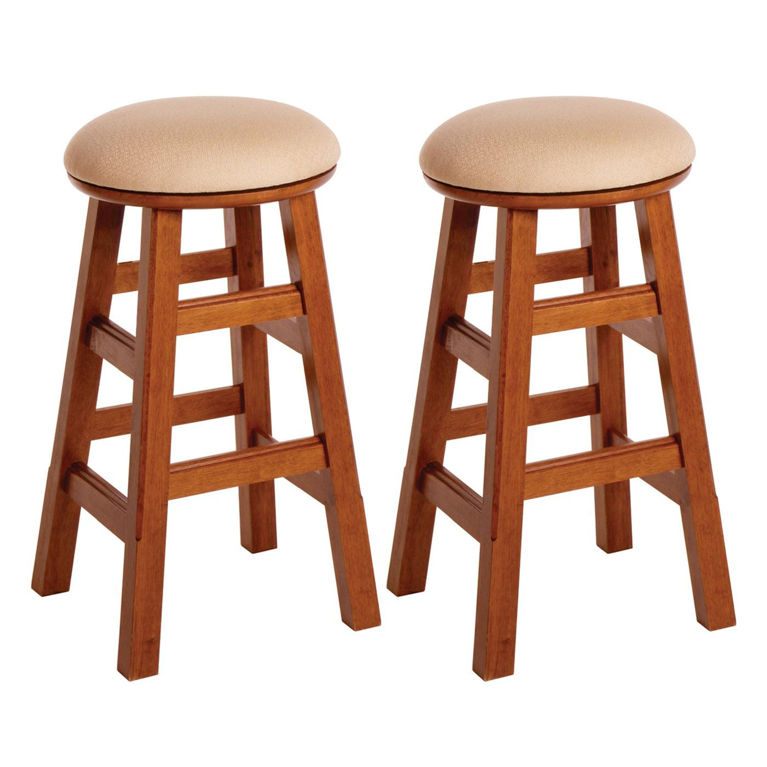 Set Of 2 26 Quot Padded Swivel Stool Assembled 96 99