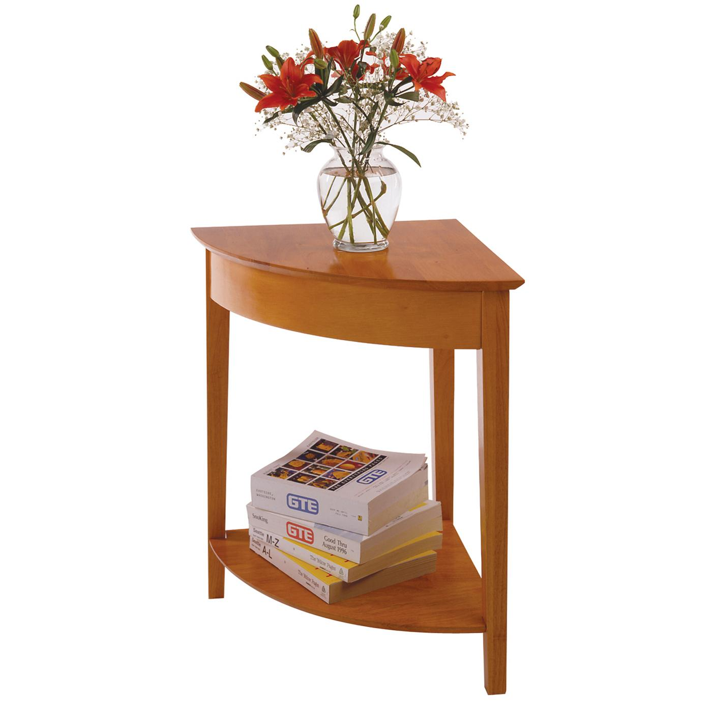 Winsome wood studio corner table ojcommerce - Corner tables for living room online ...