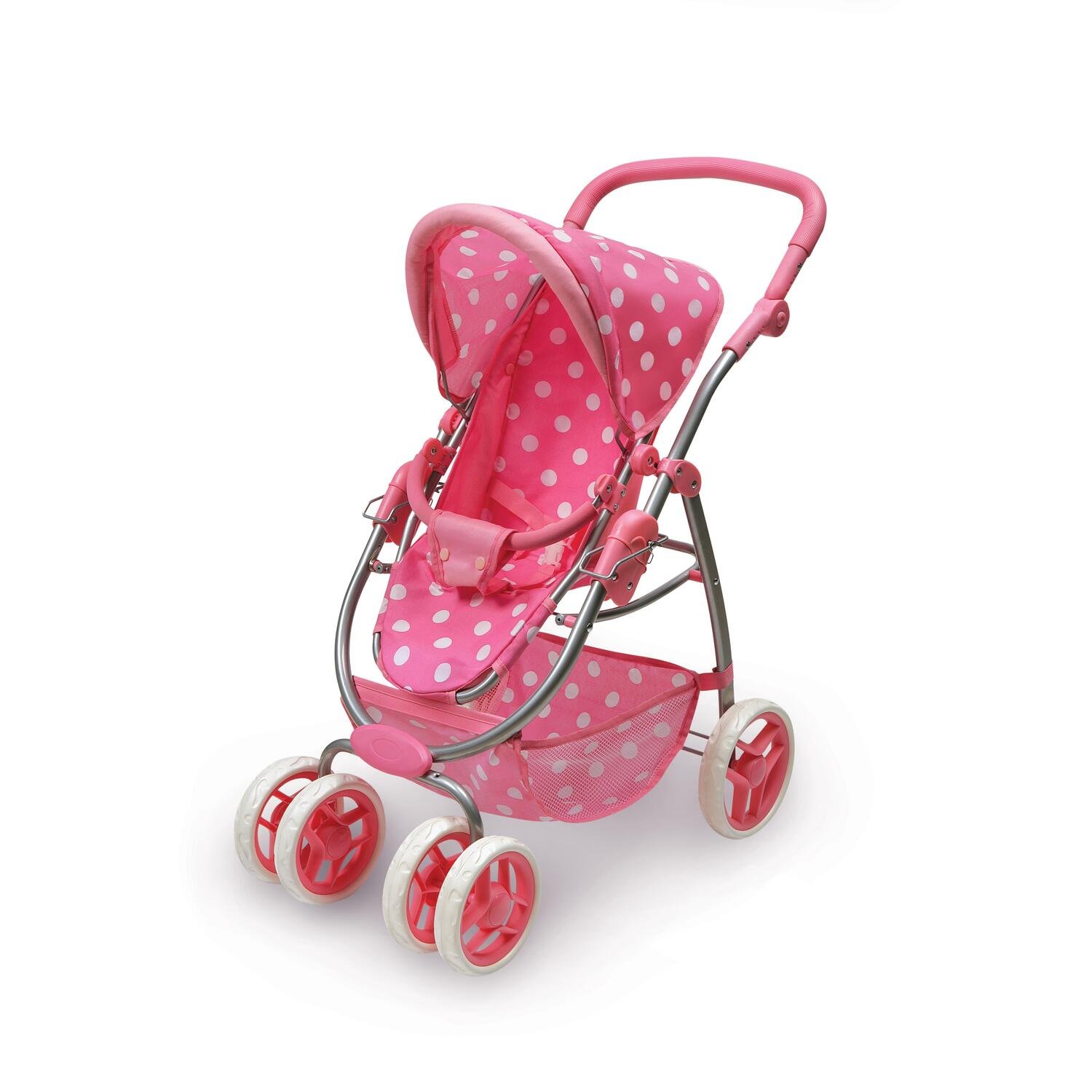 Six Wheel Doll Travel System Stroller and Carrier - Pink ...