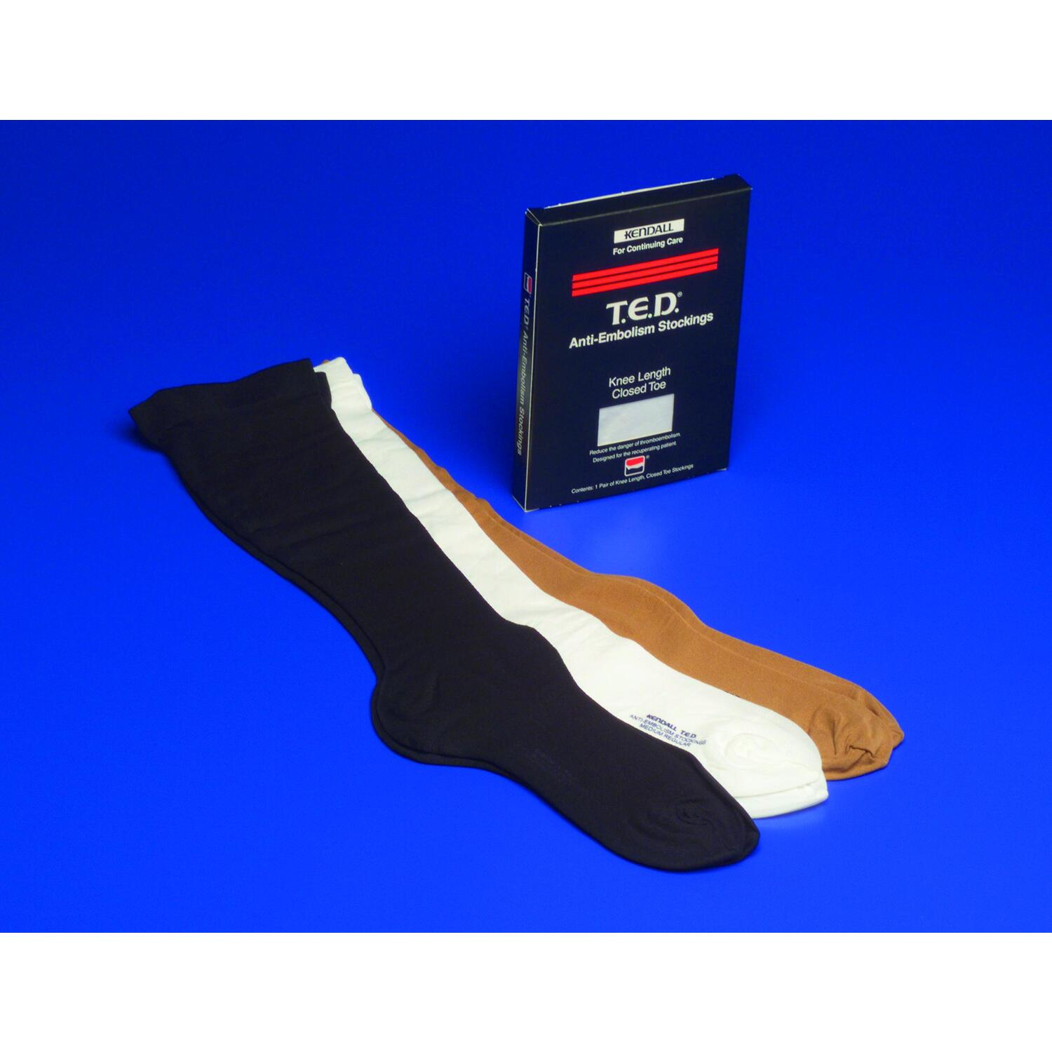 knee length versus thigh length ted Kendall knee length ted anti-embolism stockings reduce venous stasis below knee when thigh length styles are medically contraindicated buy now.