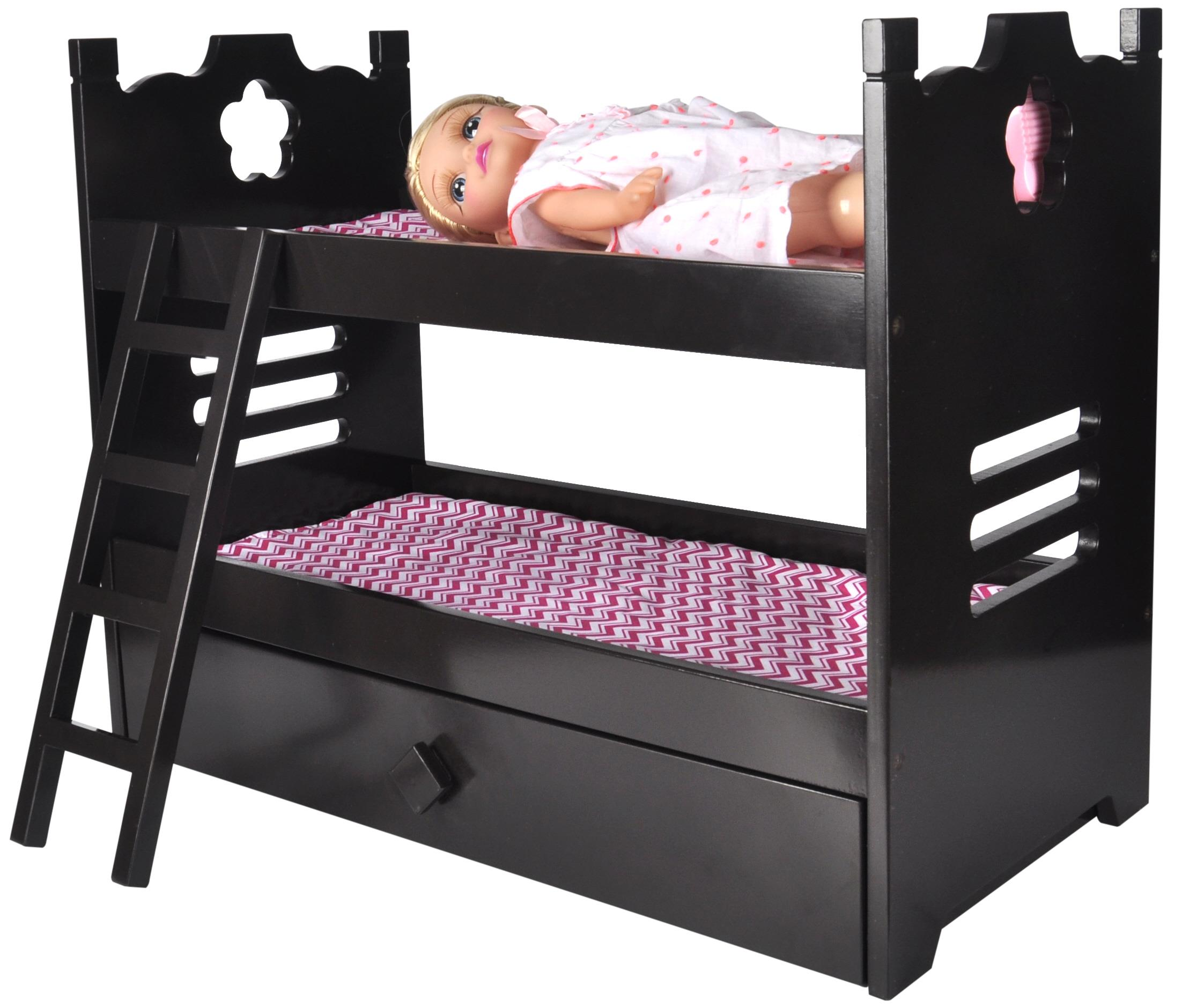 18 Inch American Girl Doll Bunk Bed With Trundle Doll Bunk Beds
