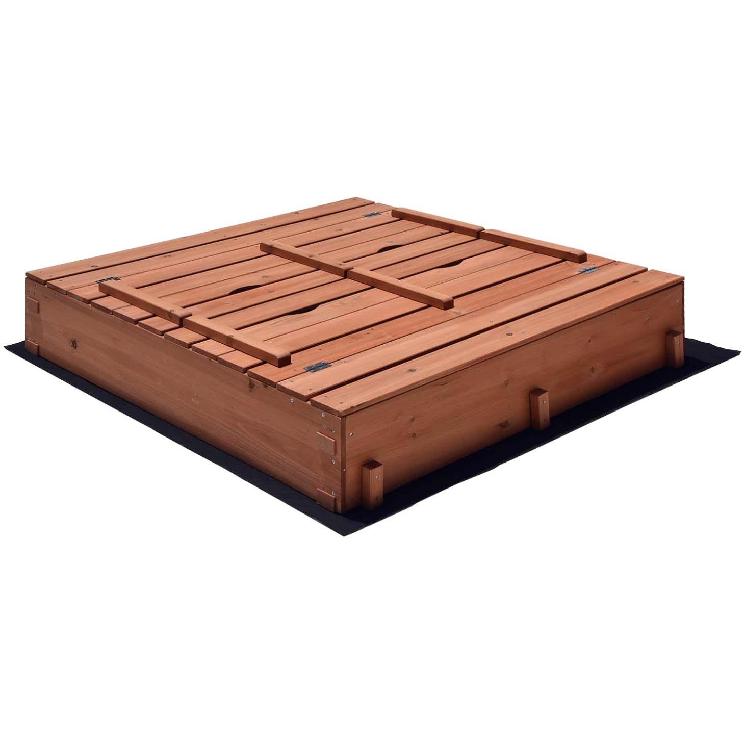 Kids Outdoor Cedar Sandbox
