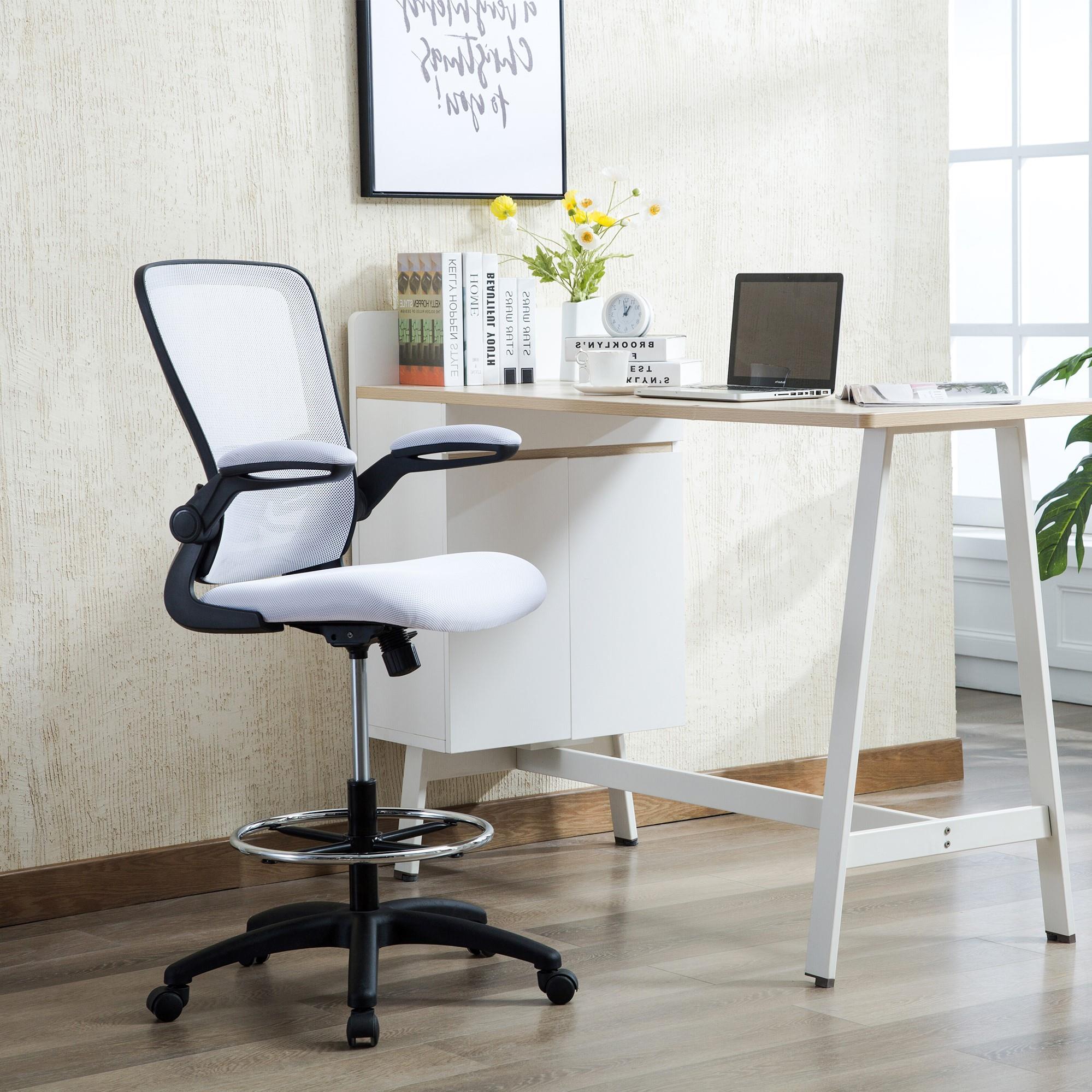 Naomi Home Venus Adjustable Drafting Chair White
