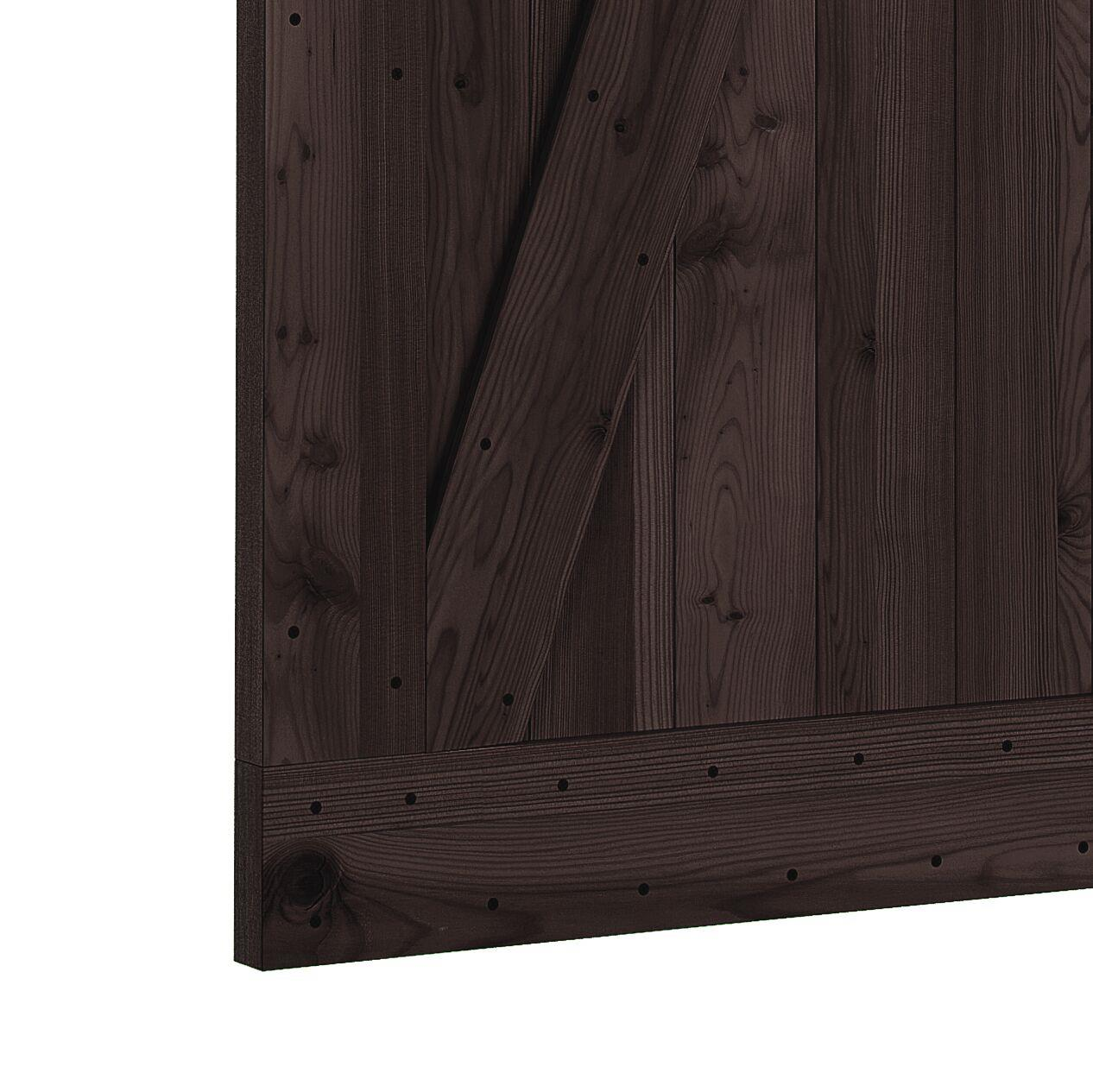 Northbeam Paneled Wood Finish Prehung Barn Door With