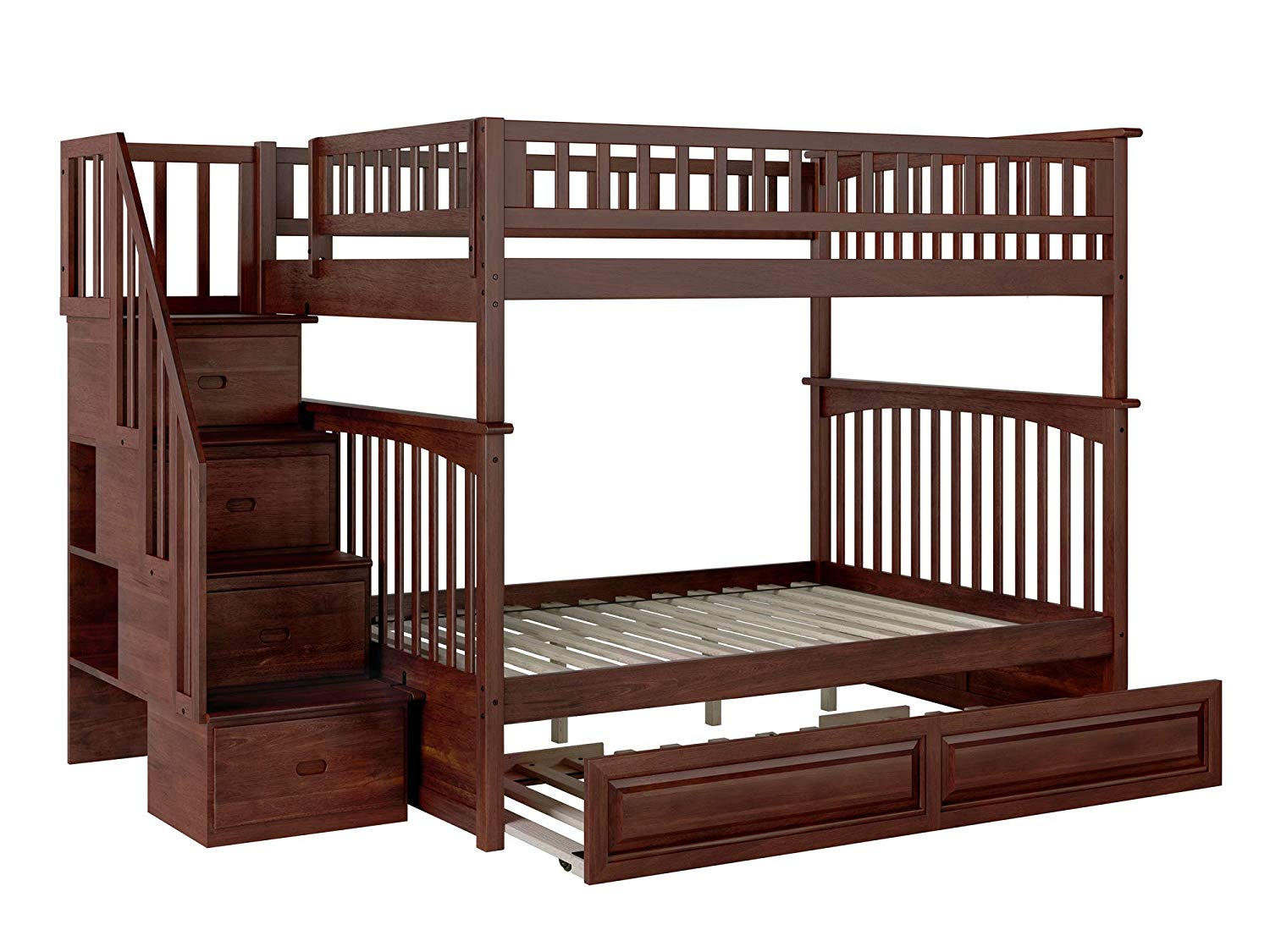 Columbia Staircase Bunk Bed Full Over With Raised Panel Trundle Ab55834