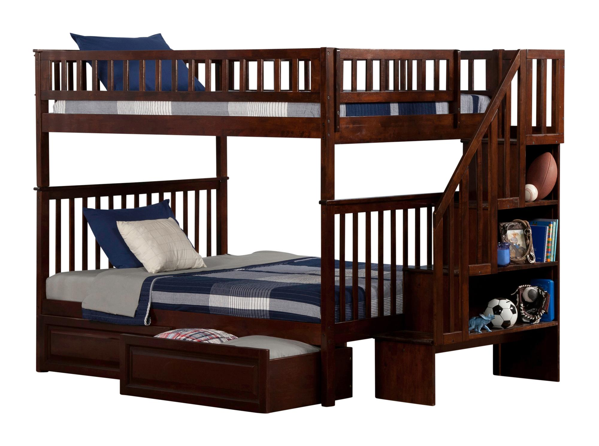 amazoncom nantucket bunk bed with raised panel trundle bed t