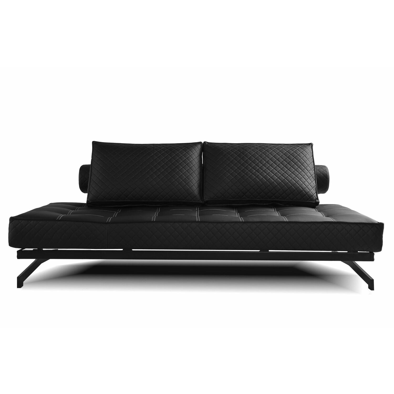 convertible euro sofa lounger ojcommerce. Black Bedroom Furniture Sets. Home Design Ideas