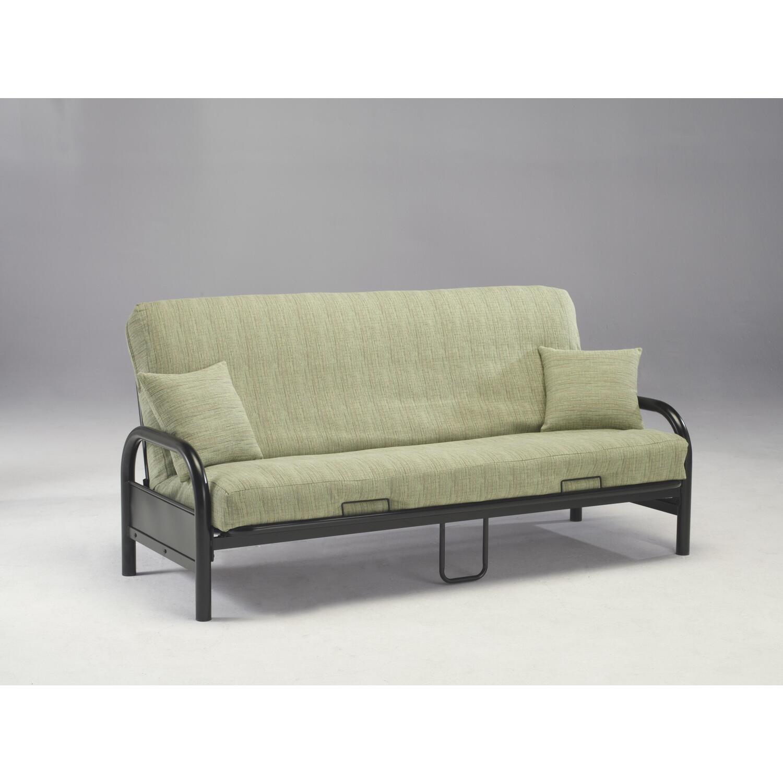 black couch futon  handy living tevin navy blue velvet storage  - saturn futon w black metal deck