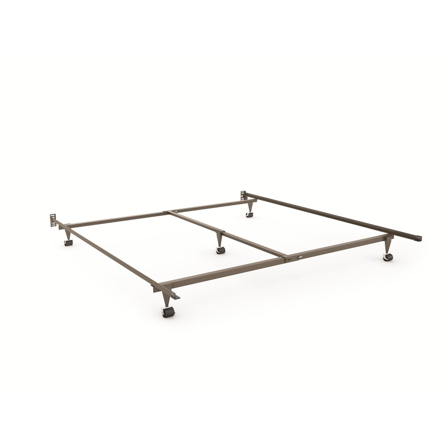 King Size Steel Bed Rails With Head Board Attachment