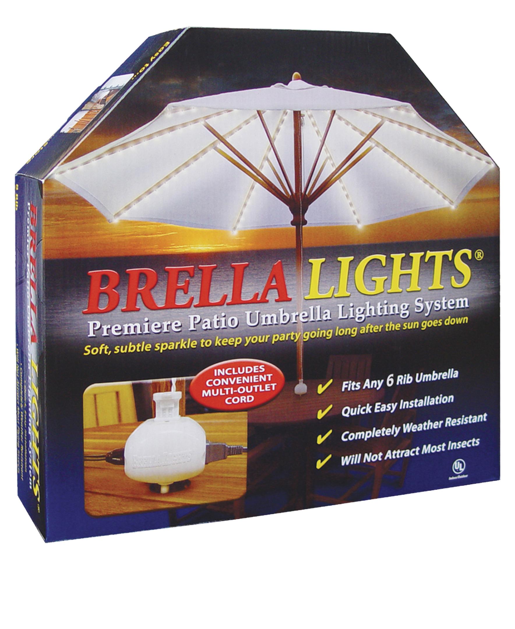 Blue Star Group Brella Lights - Patio Umbrella Lighting Syst