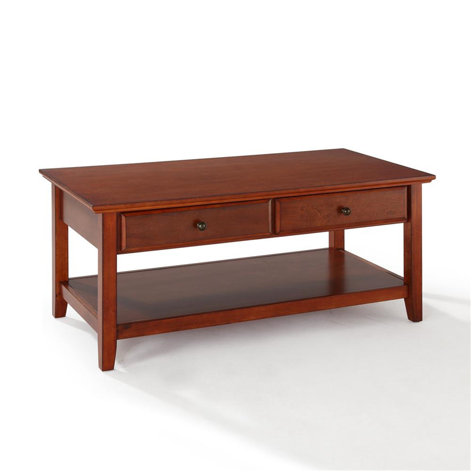 Espresso Coffee Table With Storage: Coffee Table With Storage Drawers - $229.00