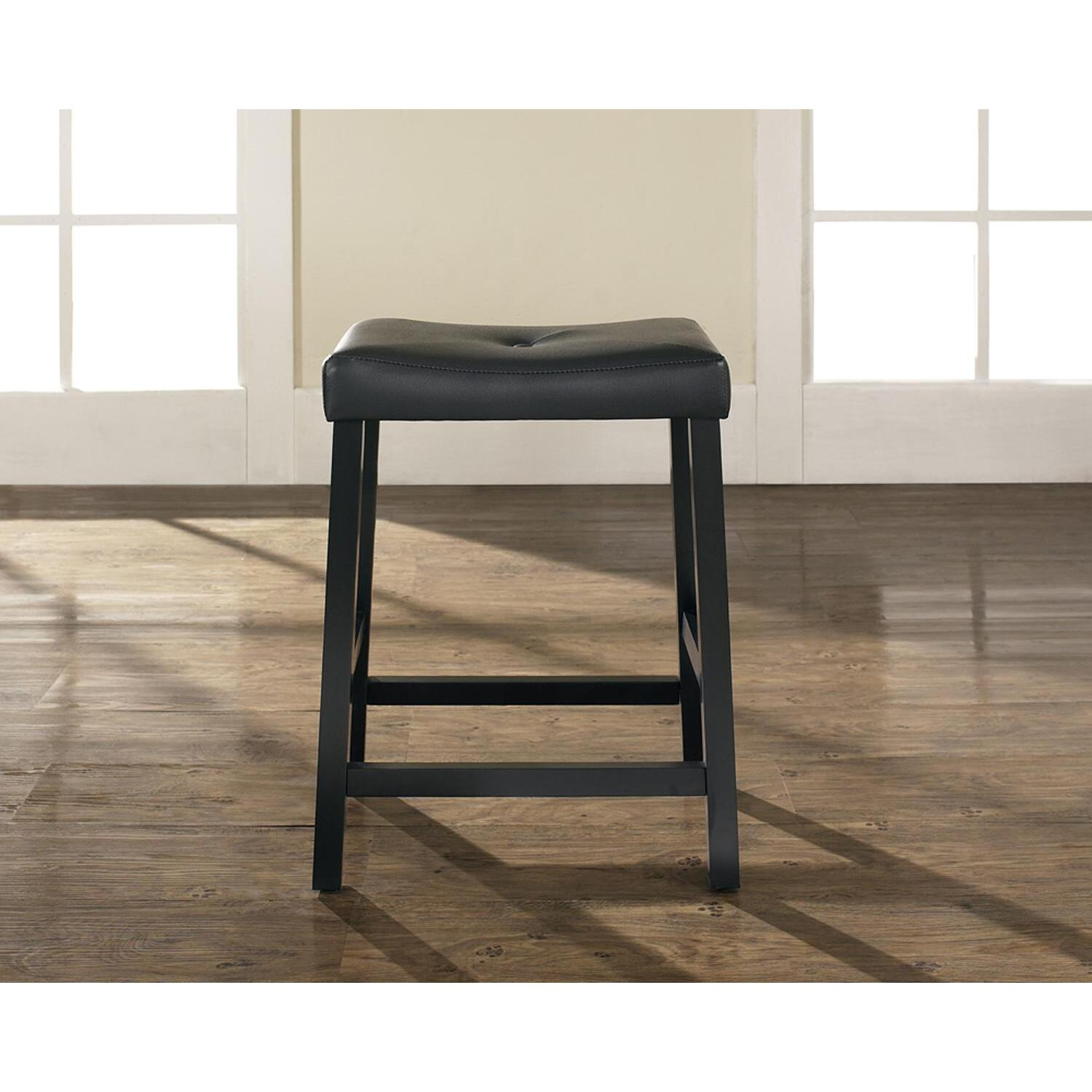 Upholstered Saddle Seat Bar Stool From 80 61 To 87 32