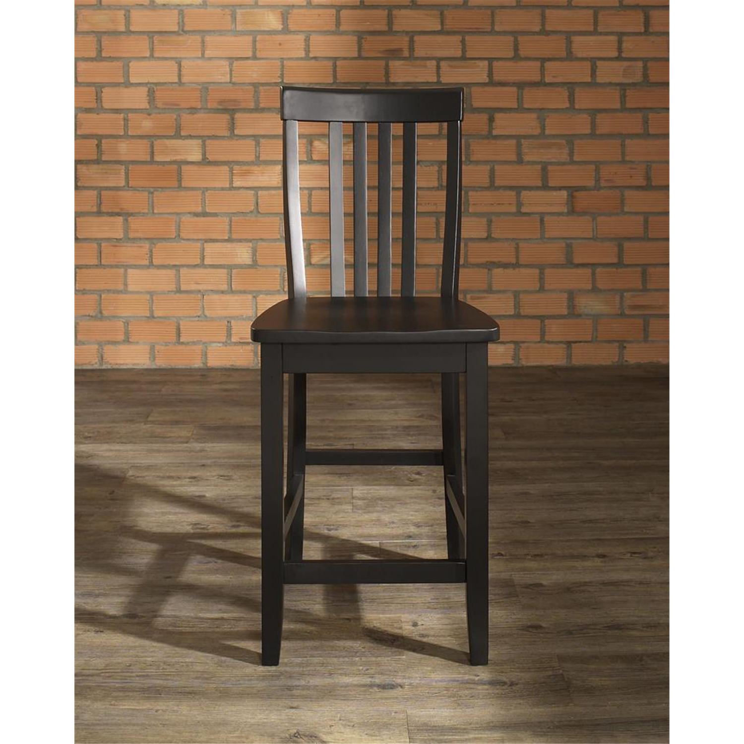 Home Styles Arts Crafts 24 In Counter Stool: School House Bar Stool With 24 Inch Seat Height. (Set Of