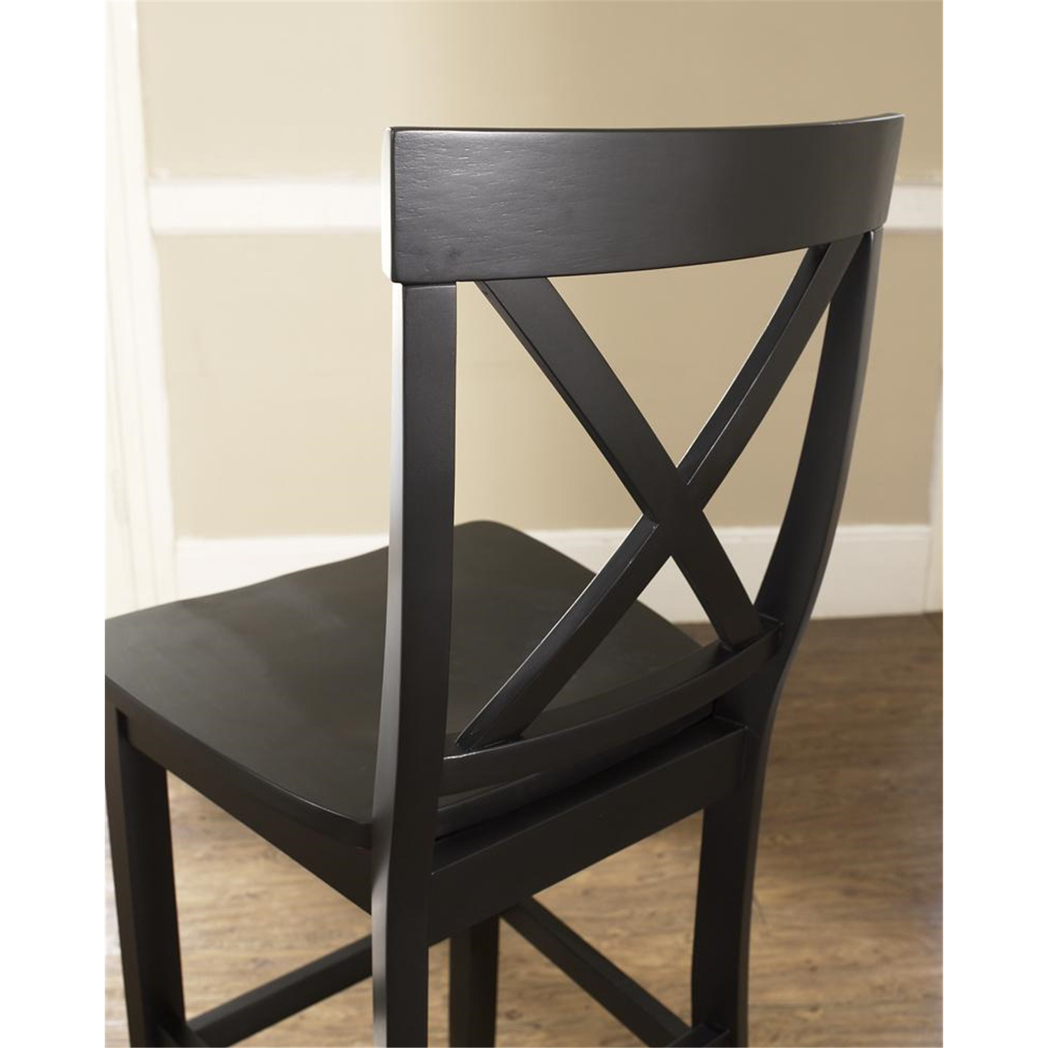 X Back Bar Stool With 30 Inch Seat Height Set Of Two