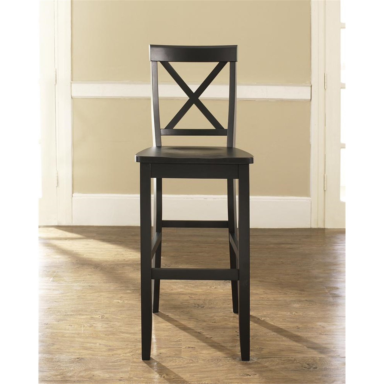 Crosley X Back Bar Stool In Mahogany Finish With 30 Inch Seat Height