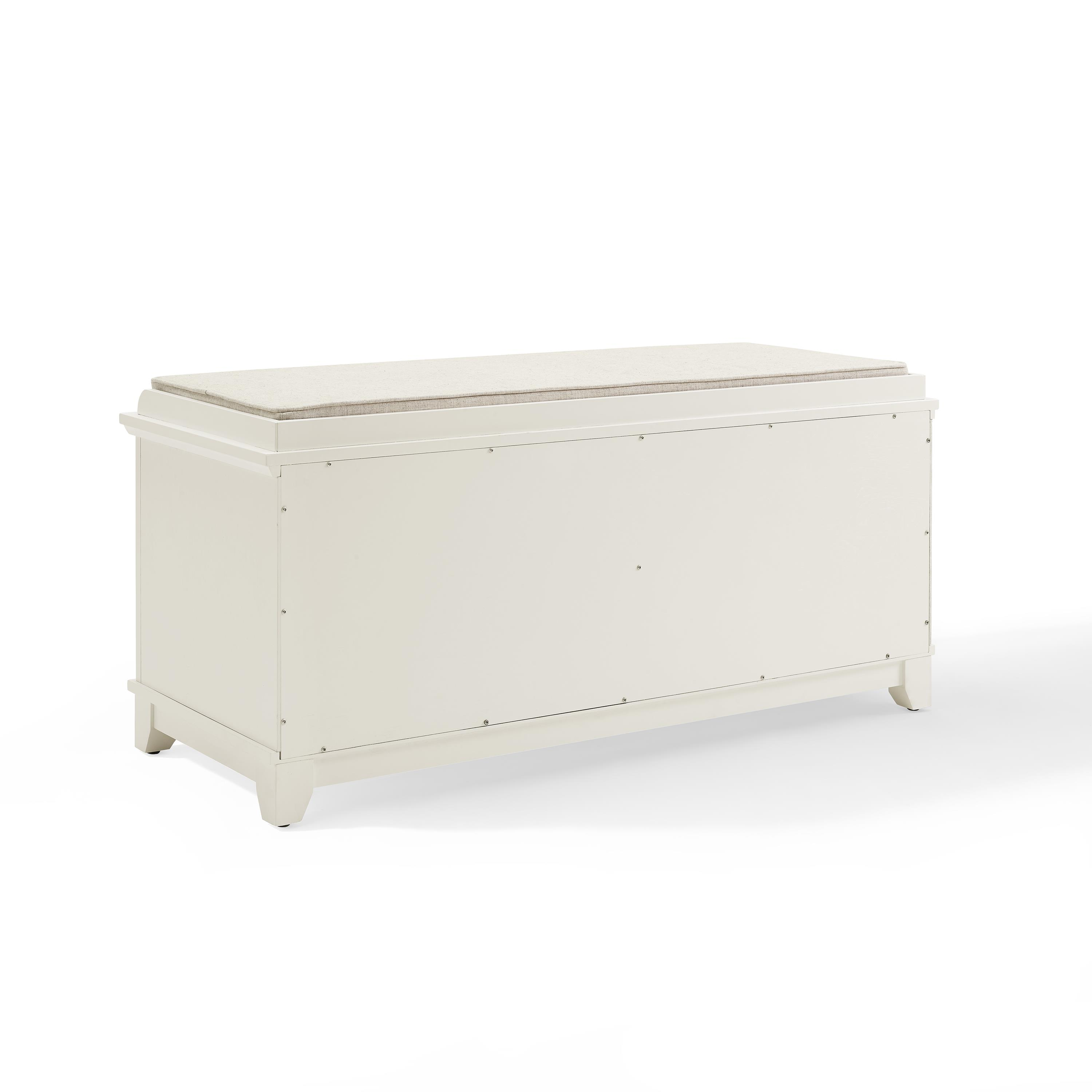 Admirable Crosley Adler Entryway Bench White Cjindustries Chair Design For Home Cjindustriesco