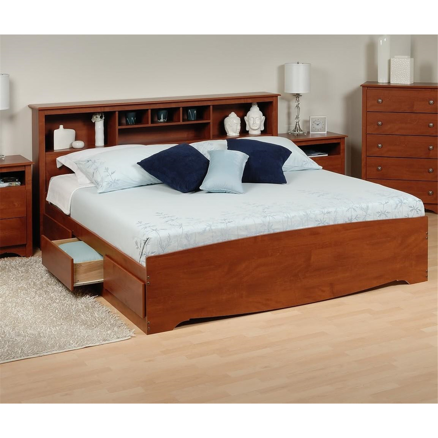 Image Result For Bookcase Headboard Queen