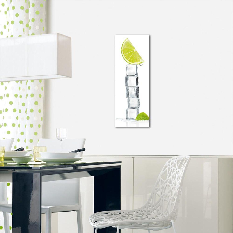 Deco glass wall decor art on glass citrus ice cube 31 5 inch ojcommerce - Cube wall decor ...