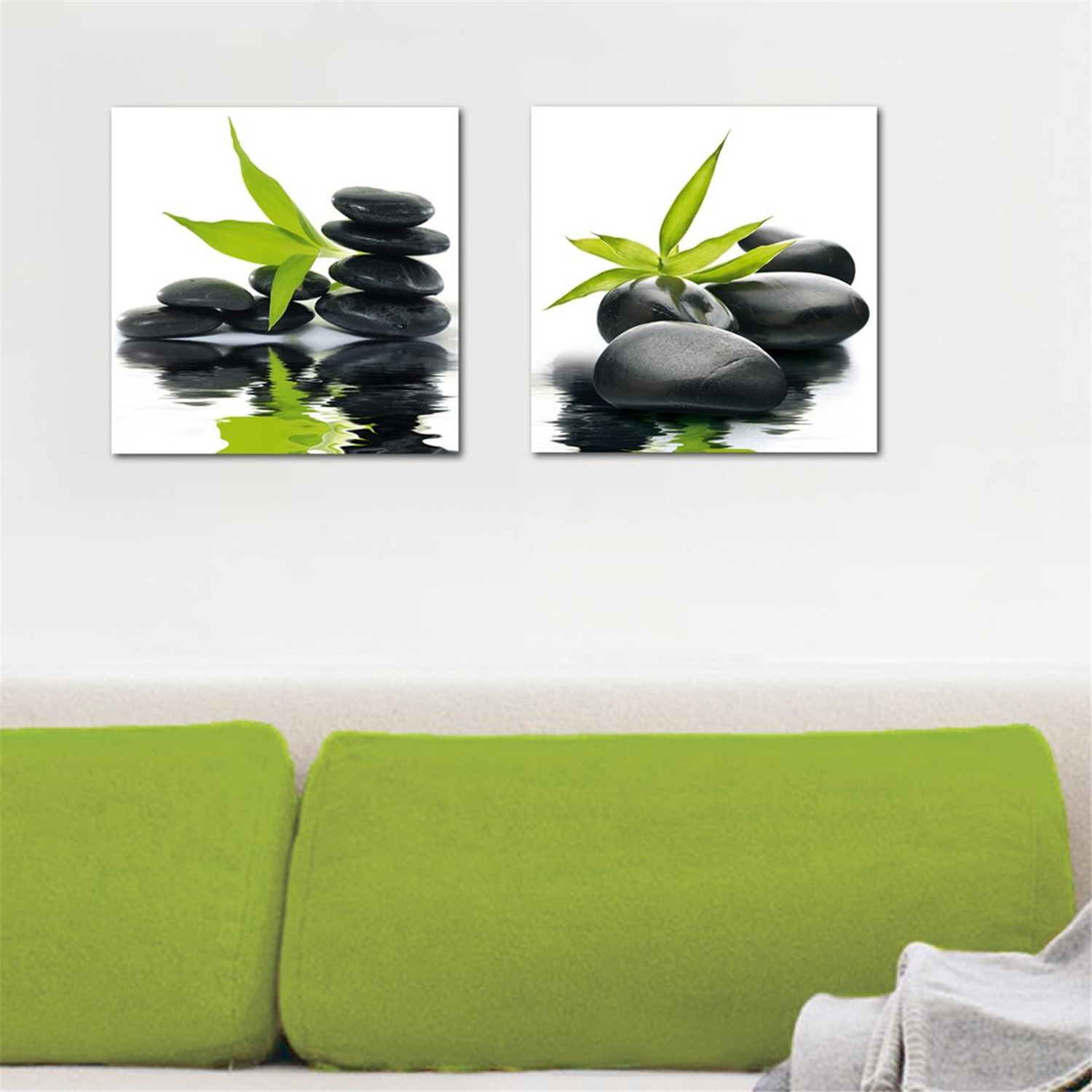 deco glass wall decor art on glass zen impression ojcommerce. Black Bedroom Furniture Sets. Home Design Ideas