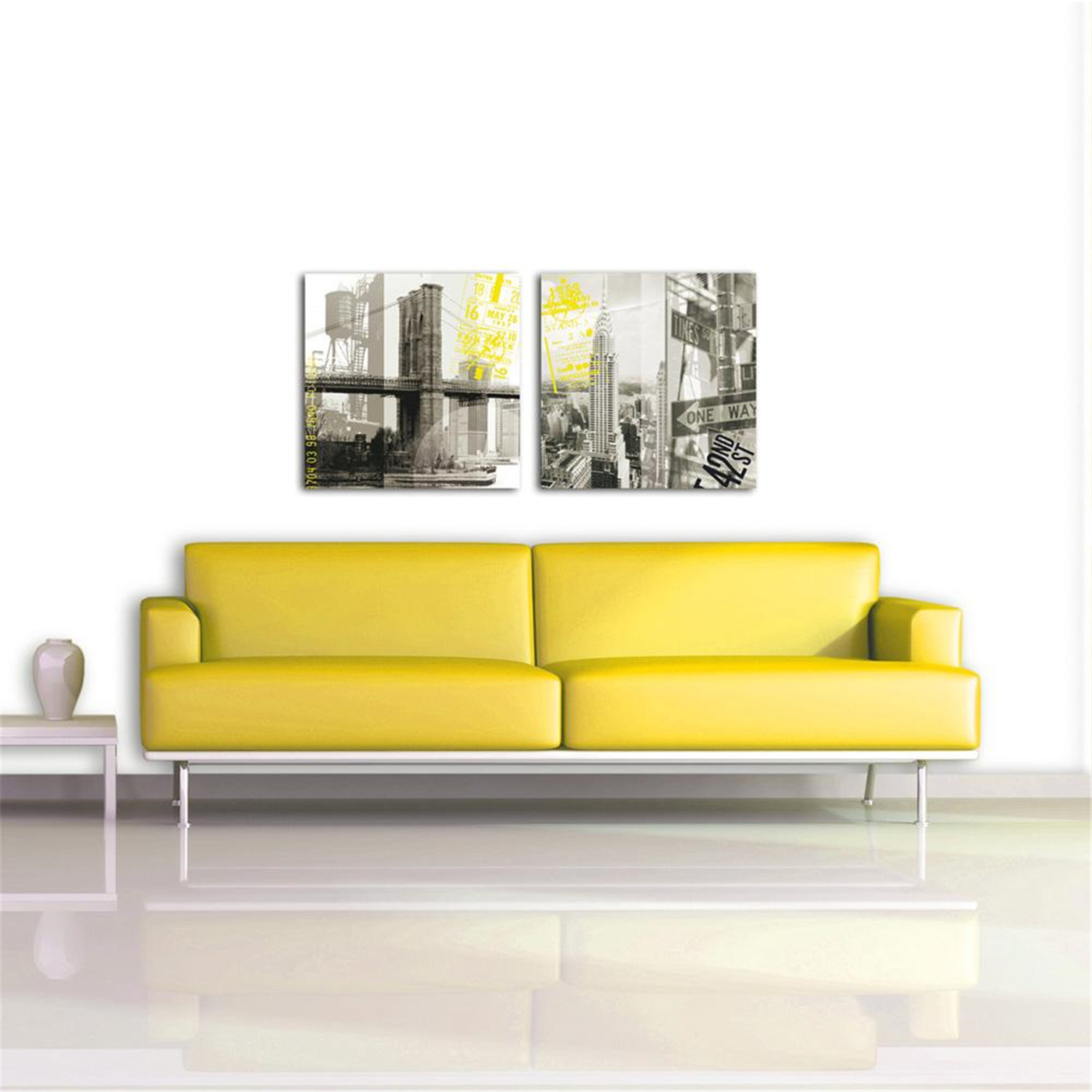 deco glass wall decor art on glass nyc chrysler reflections ojcommerce. Black Bedroom Furniture Sets. Home Design Ideas