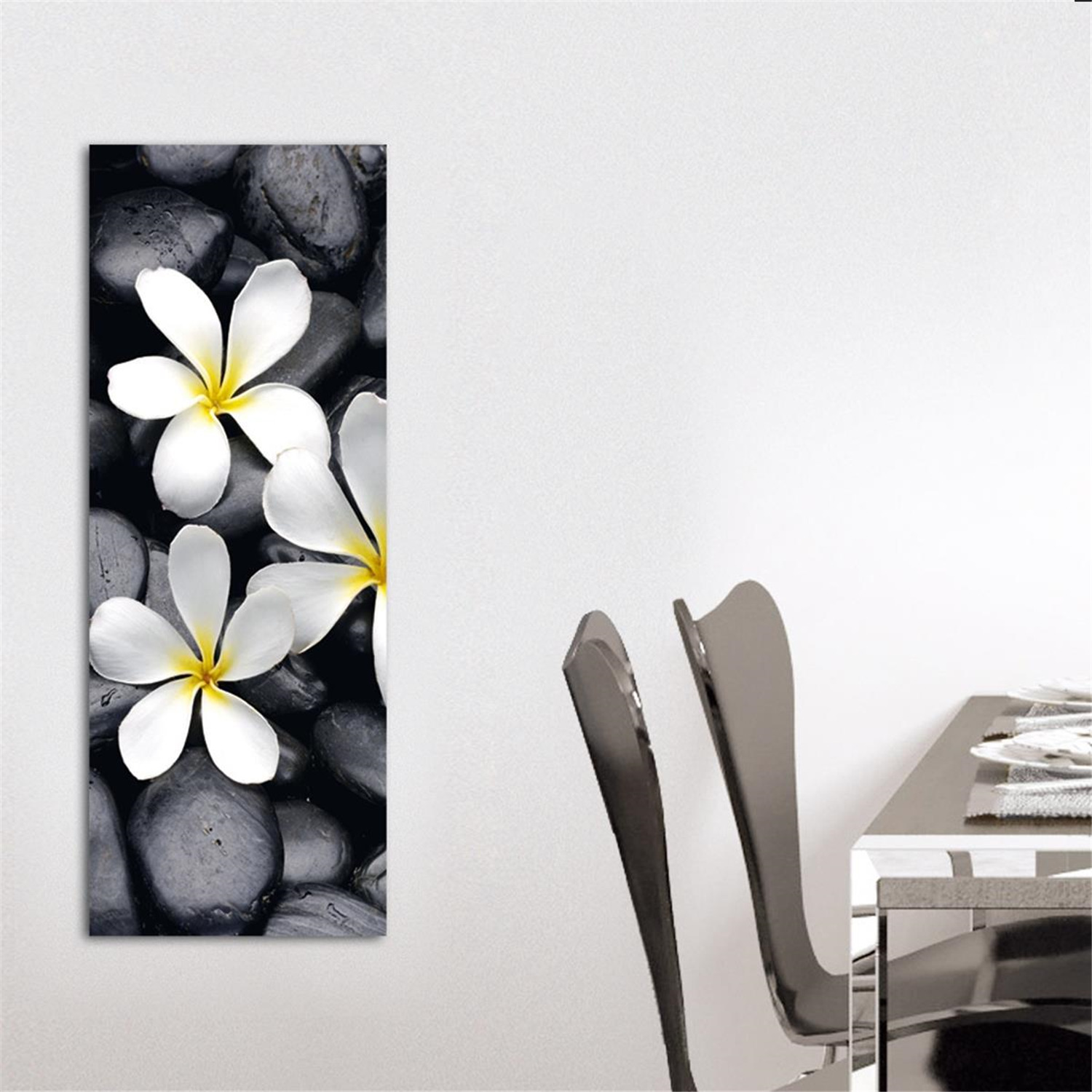 Deco glass wall decor art on glass white splendour for Deco decorations