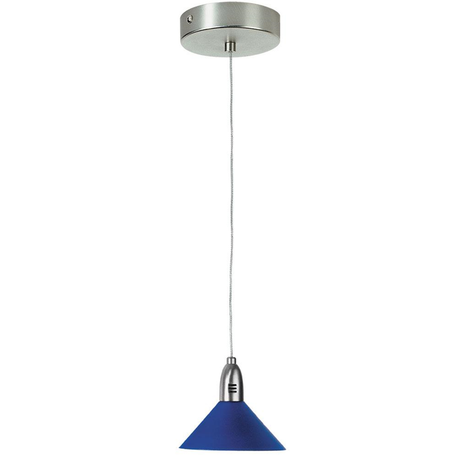 1 Light Halogen Pendant Metal Shade