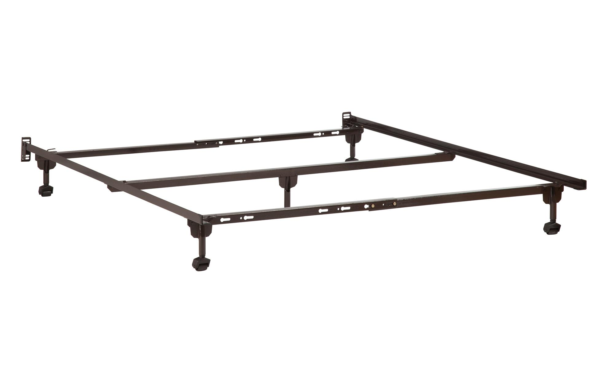 premium metal bed frame with casters ojcommerce