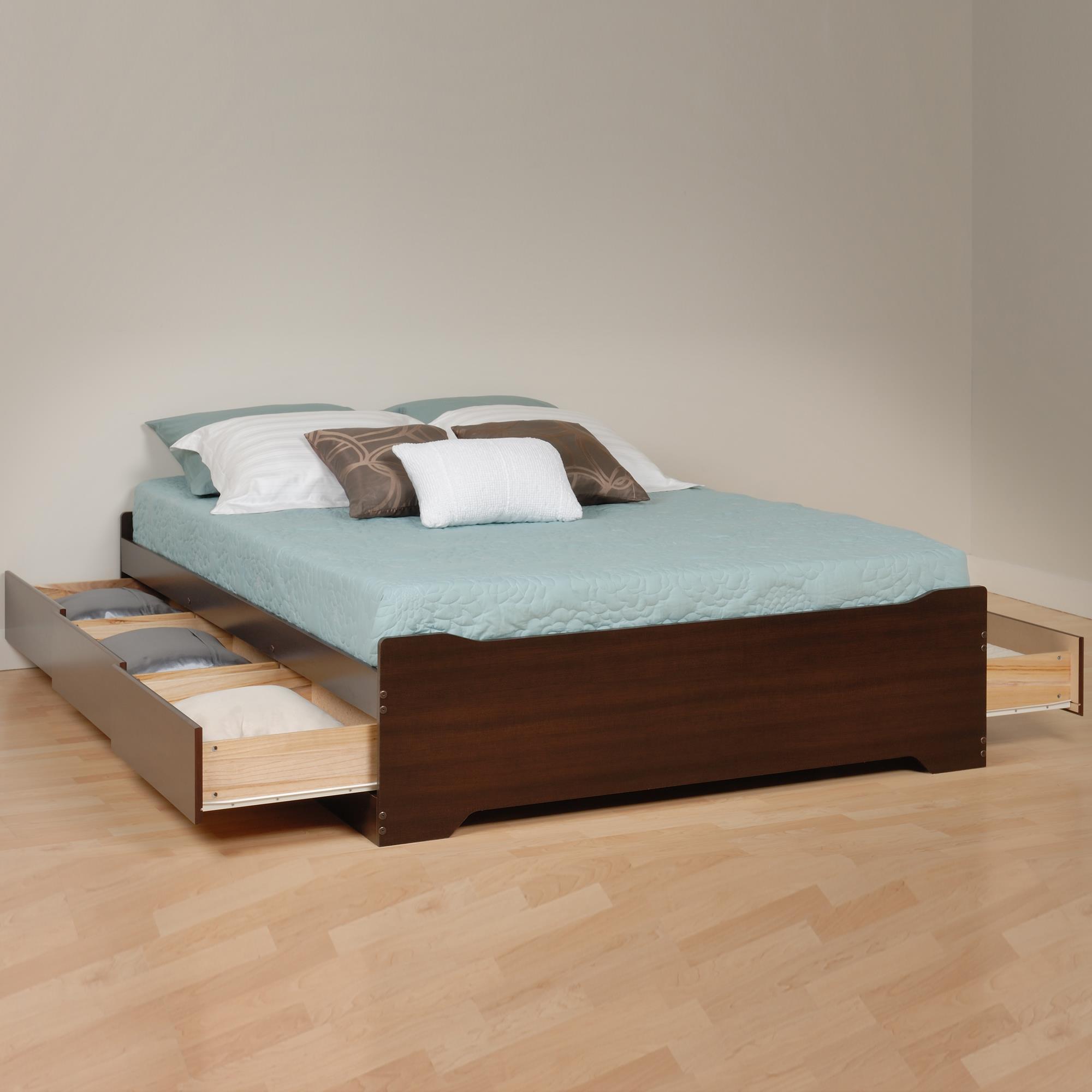Coal Harbor Queen 6 drawer Platform Storage Bed - [EBQ-6200-3KV]