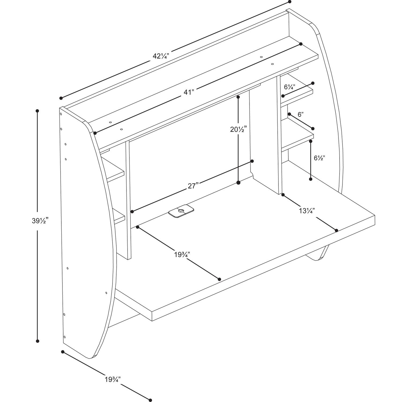 Prepac Floating Desk With Storage