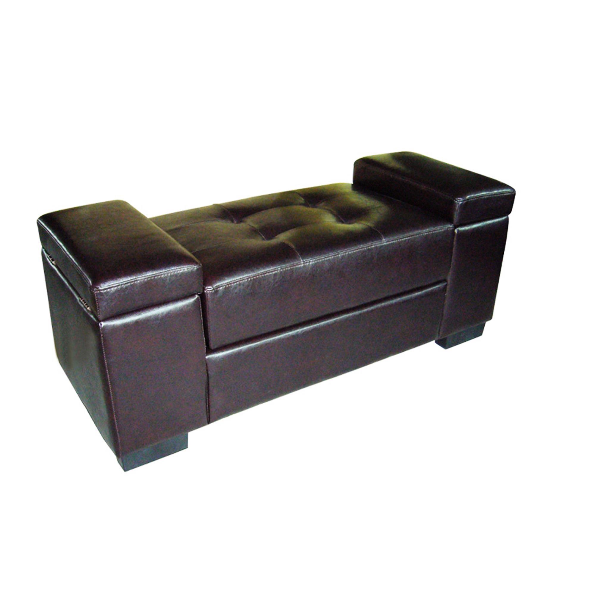 Dark Brown Open Storage Bench 126 52 Ojcommerce