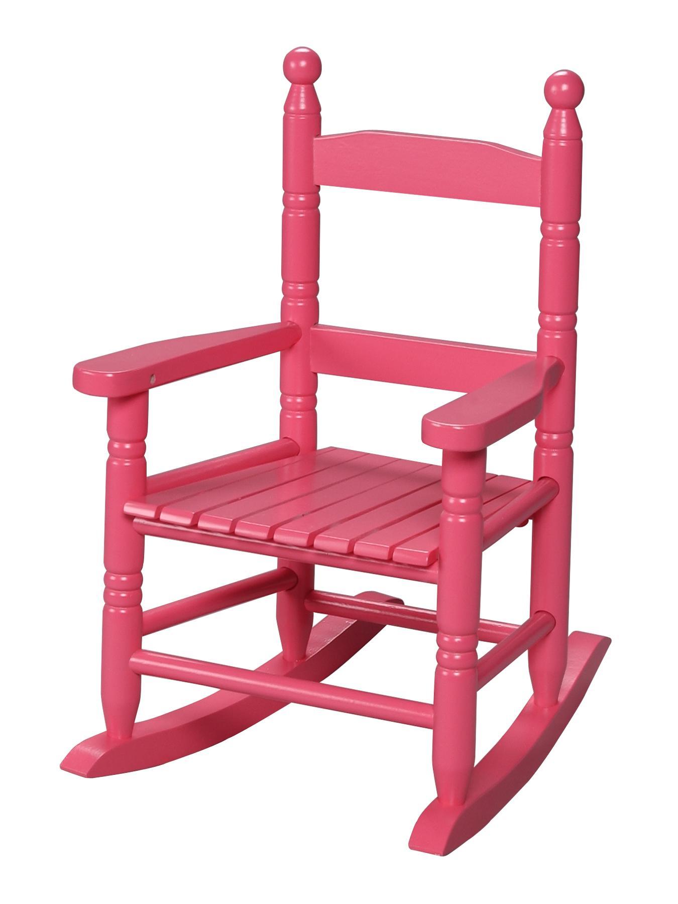 Gift Mark Children's Slat Rocking Chair Pink