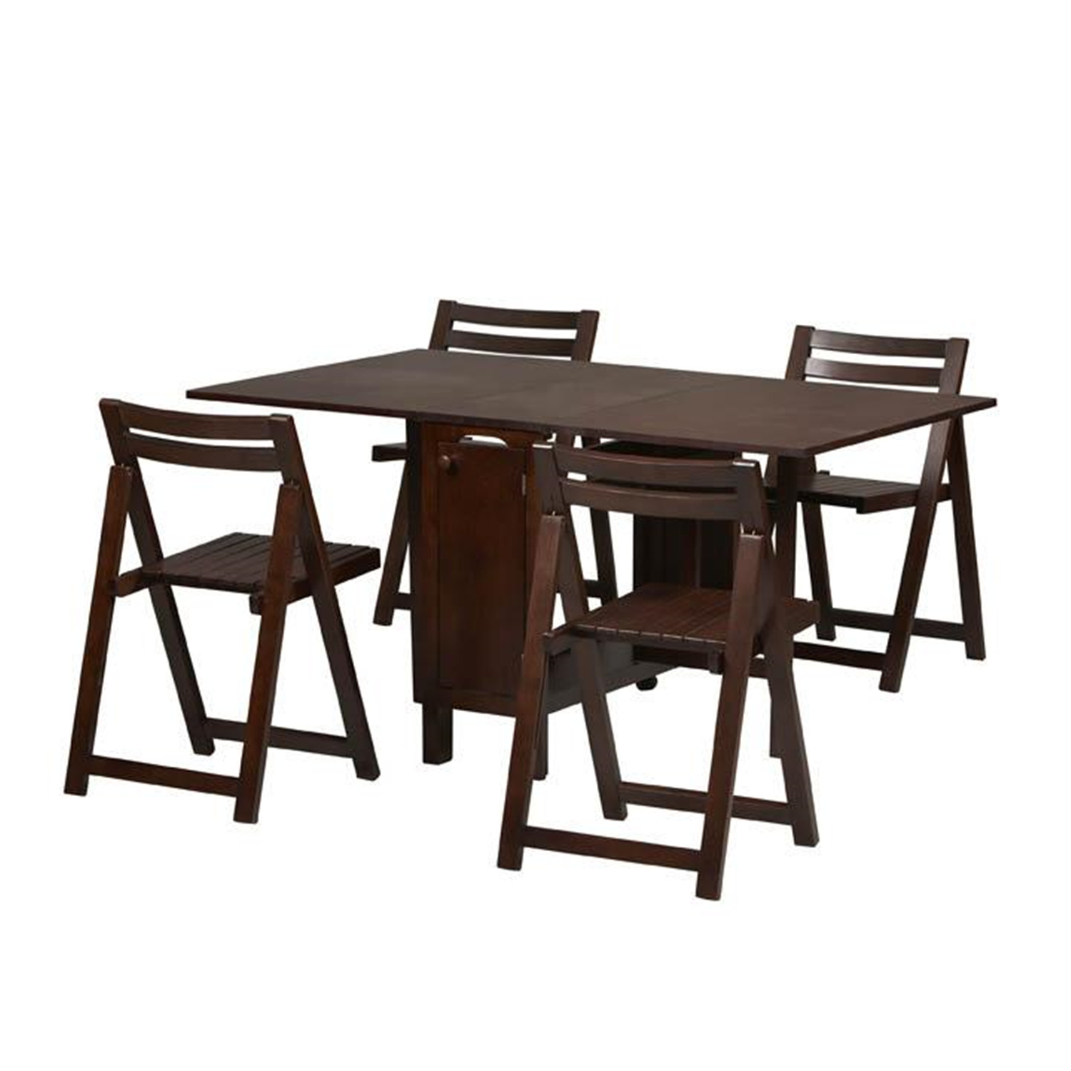 home d cor 901weng space saver dining set with table and 4 chairs