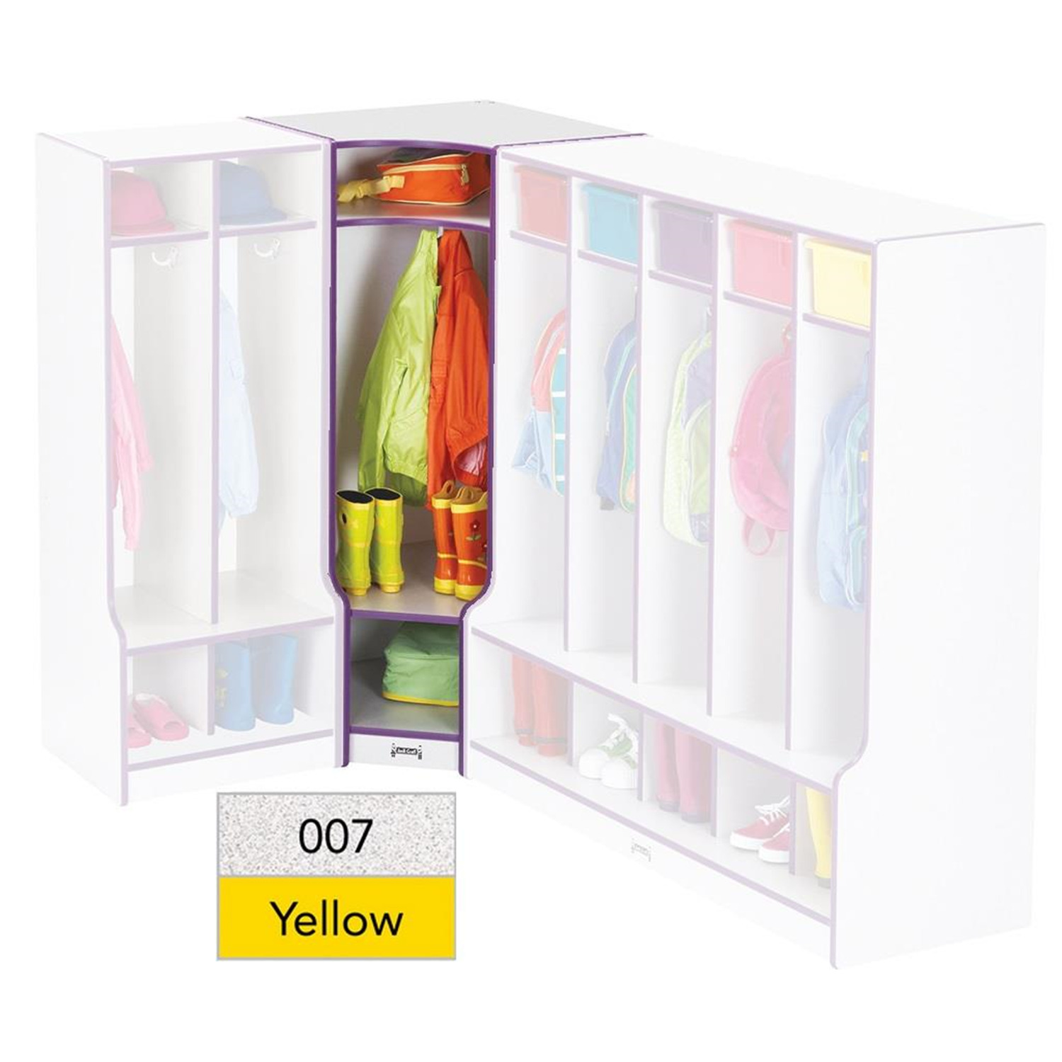 Rainbow Accents® Corner Coat Locker with Step - [6686JCWW007]