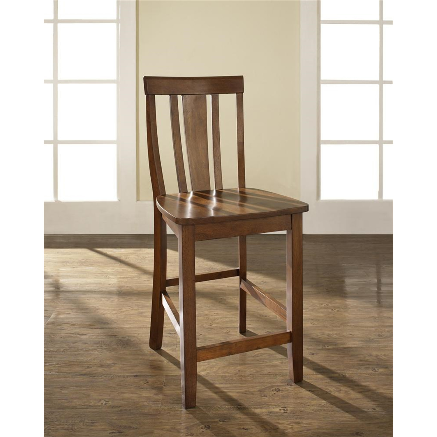 Shield Back Bar Stool With 24 Inch Seat Height Set Of