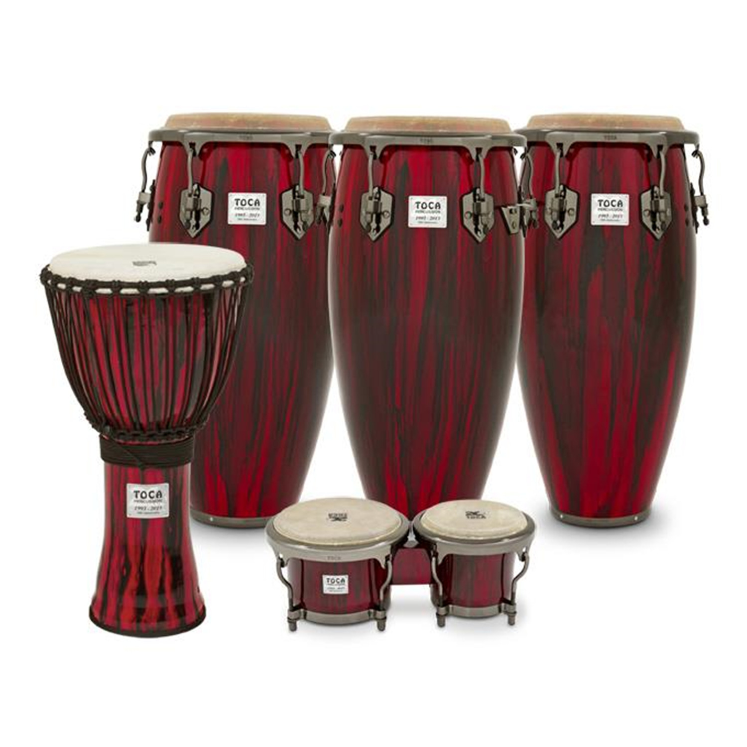 toca 20th anniversary congas bongos and djembe set ojcommerce. Black Bedroom Furniture Sets. Home Design Ideas